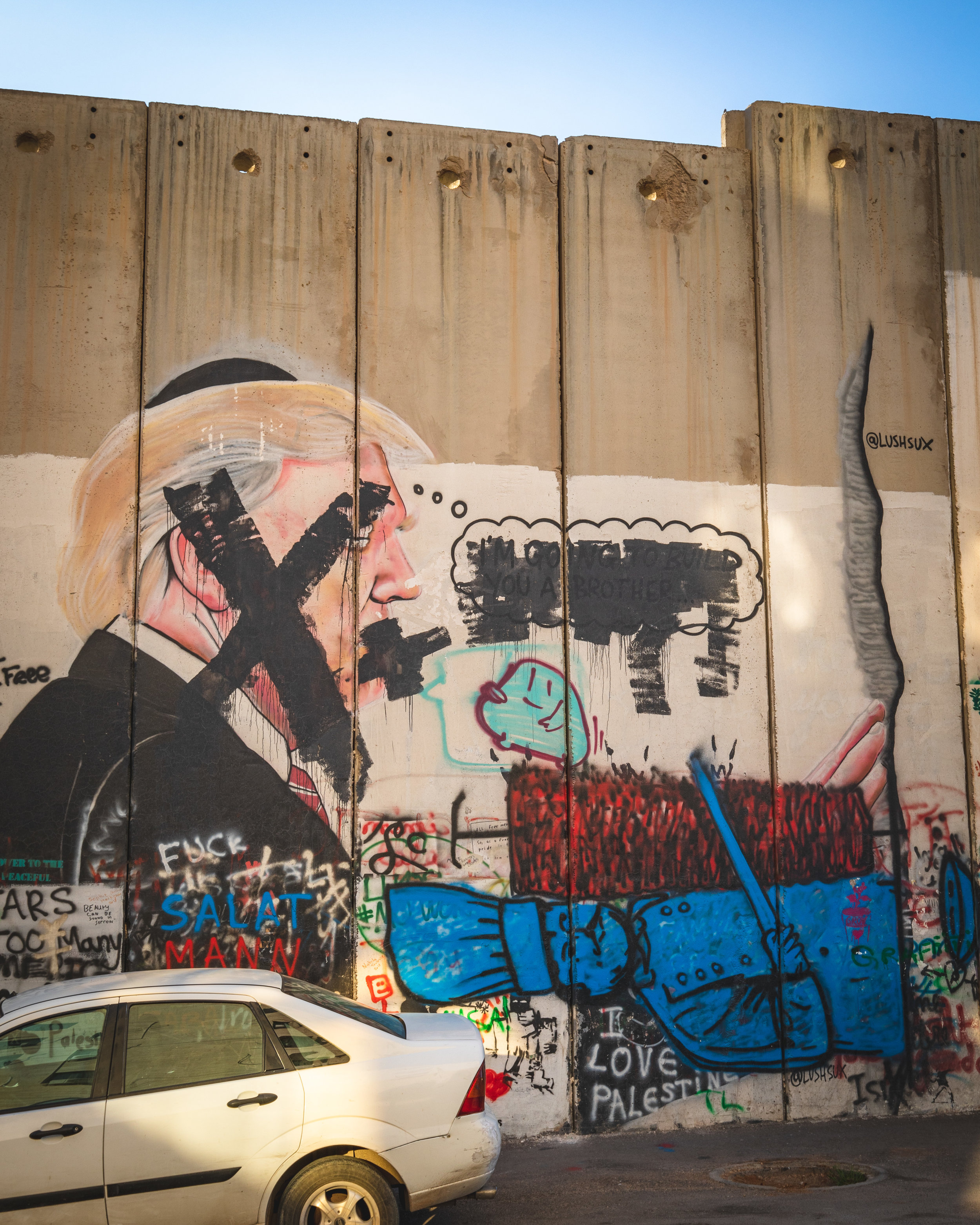 Graffitti on the wall with Palestine