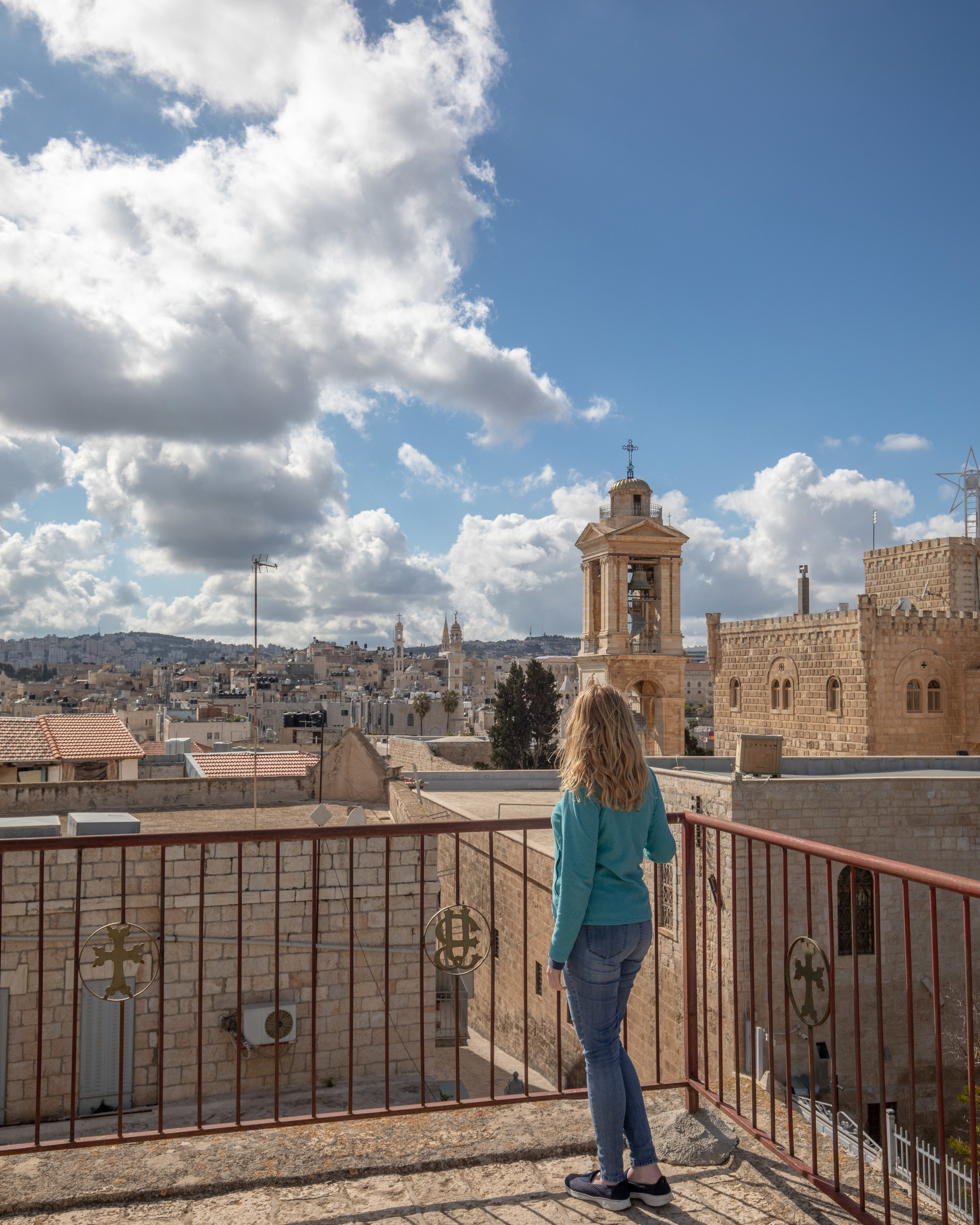 The panoramic view of Bethlehem