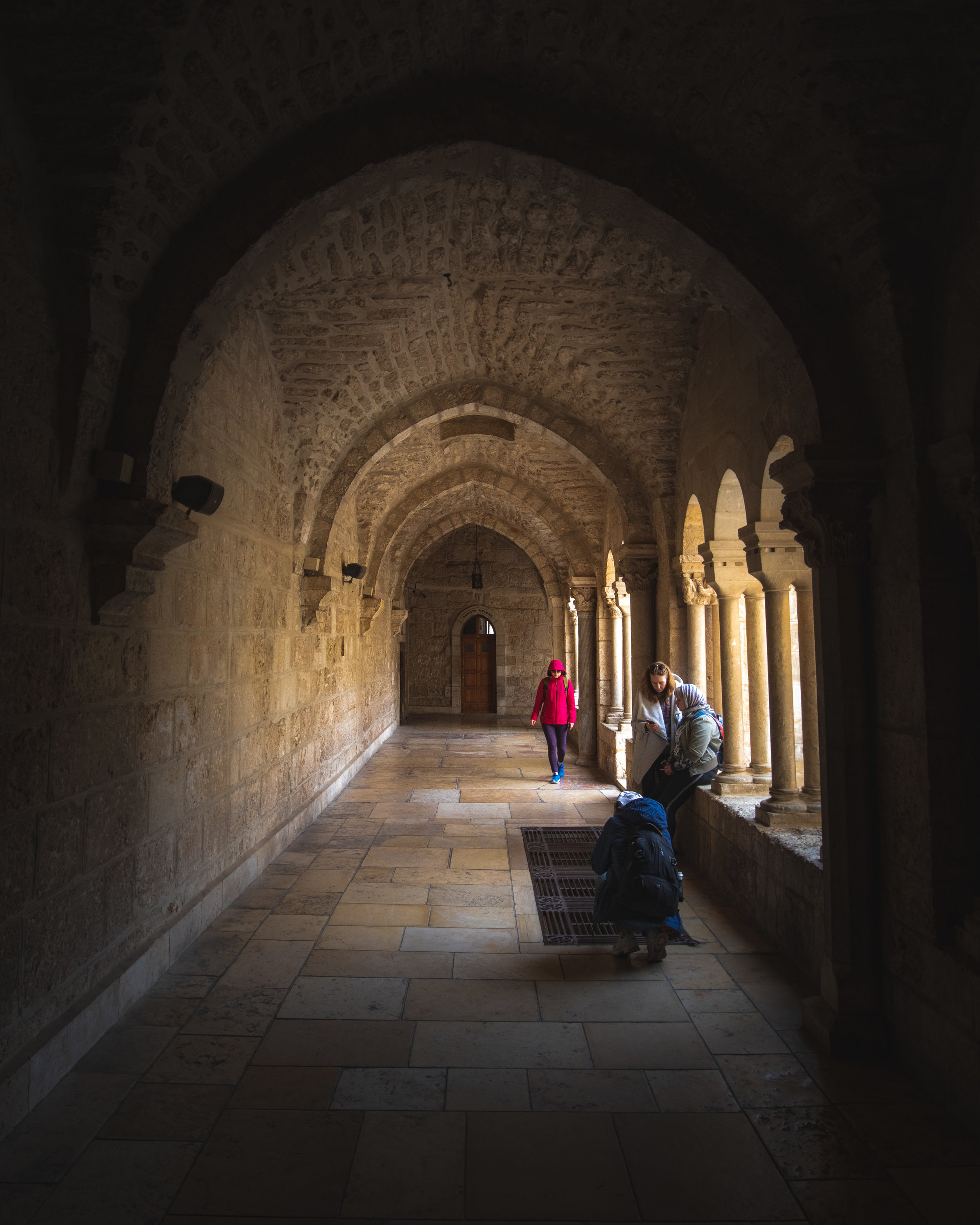 One of the corridors of the Church of the Nativity