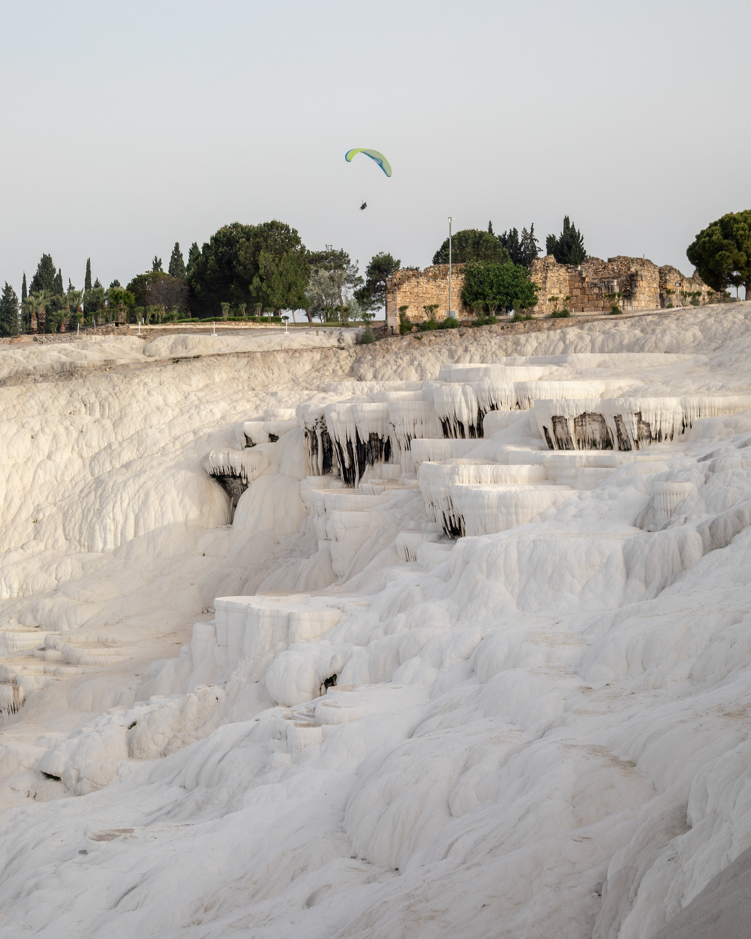 The dry travertines of Pamukkale