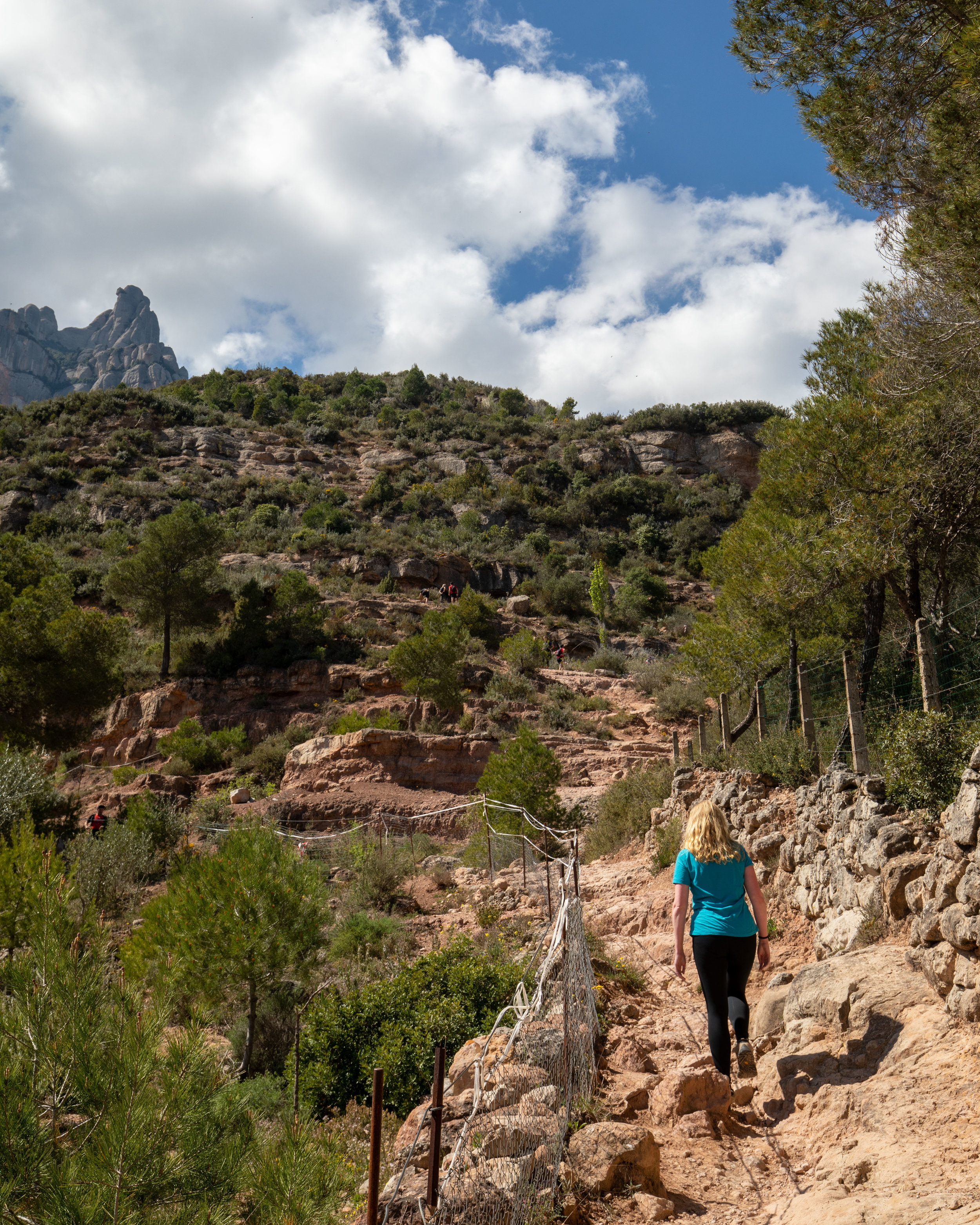 The hiking path to the top of Montserrat
