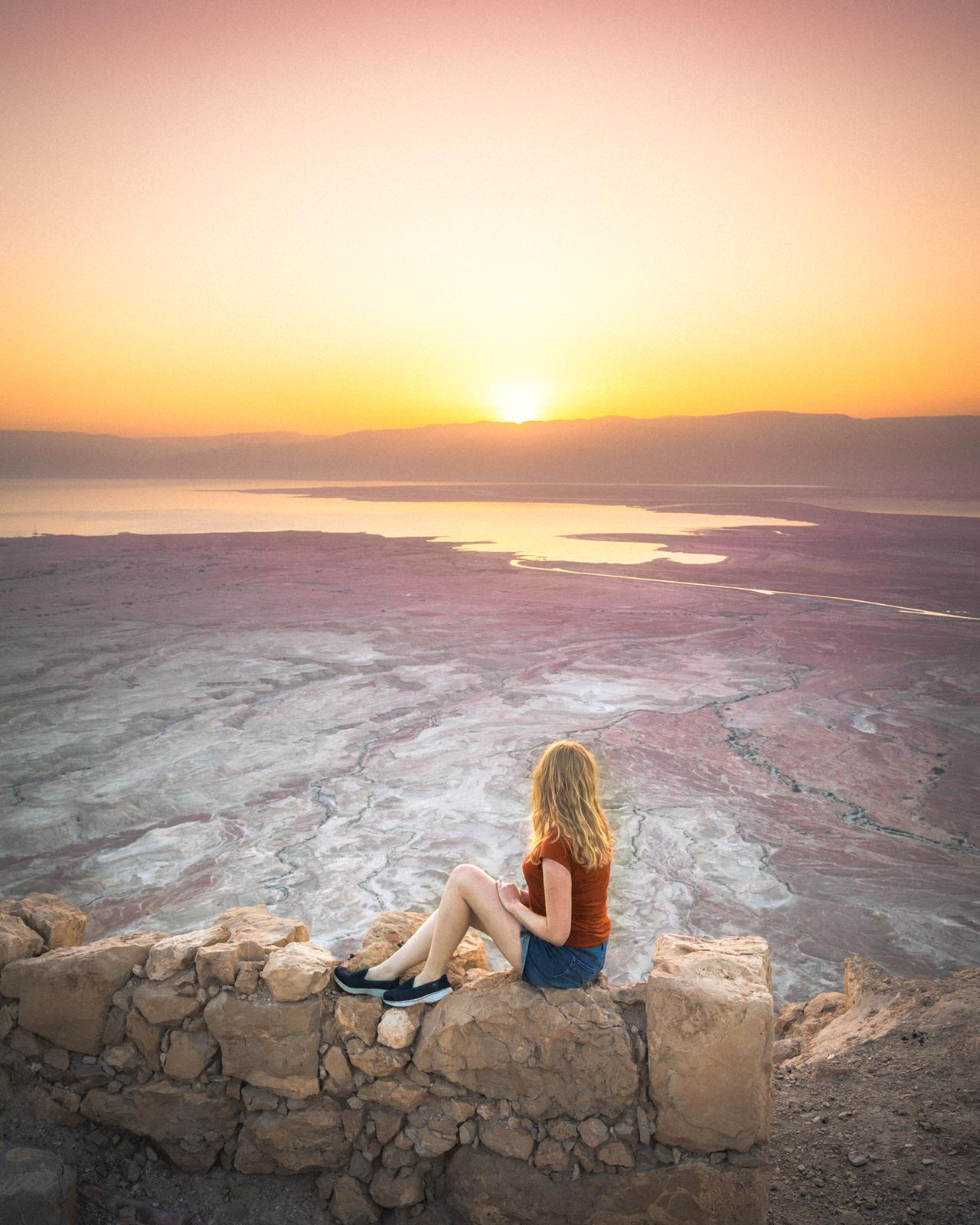 Masada Fortress Sunrise - Instagrammable places in Israel