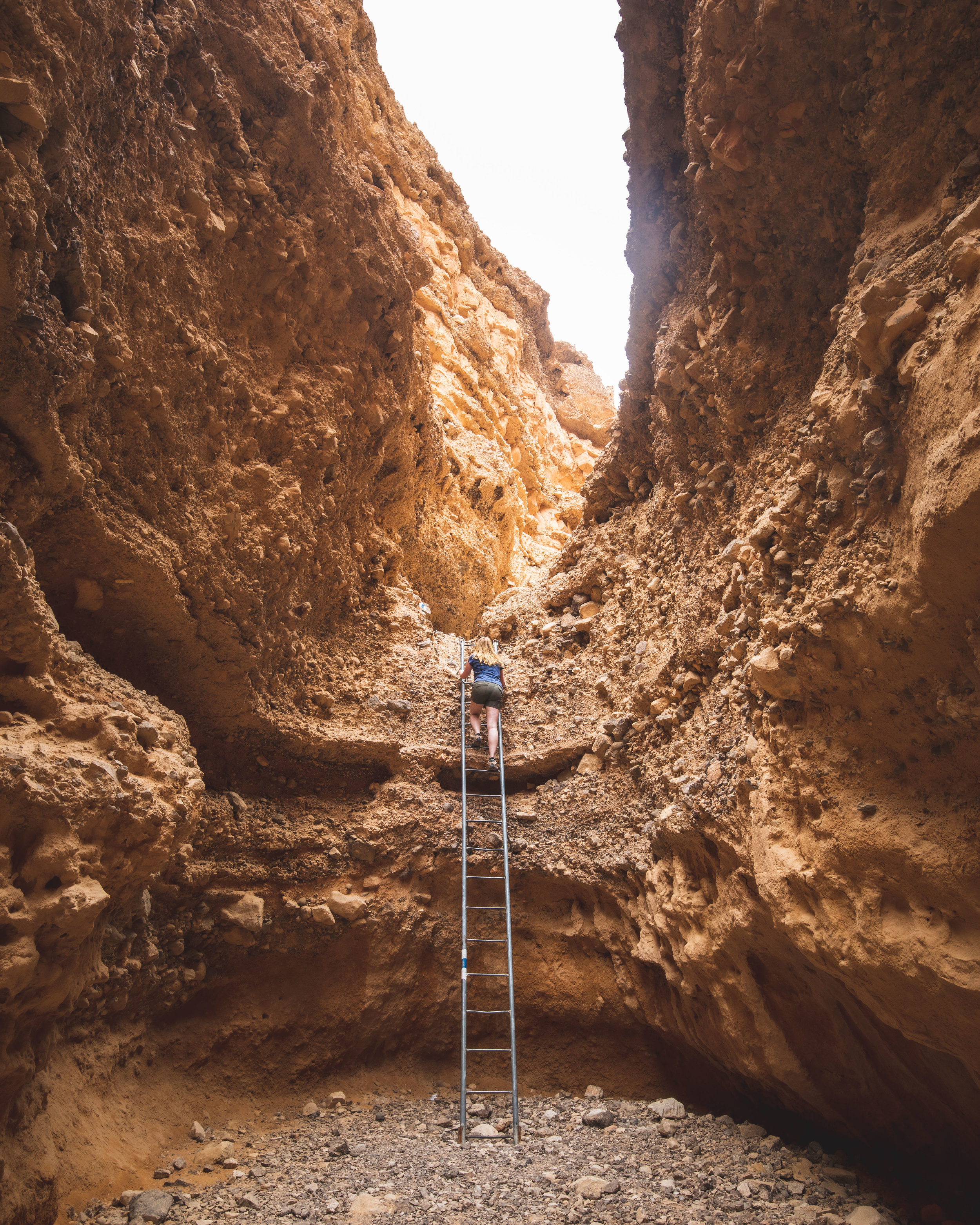 Ladders in Ada Canyon