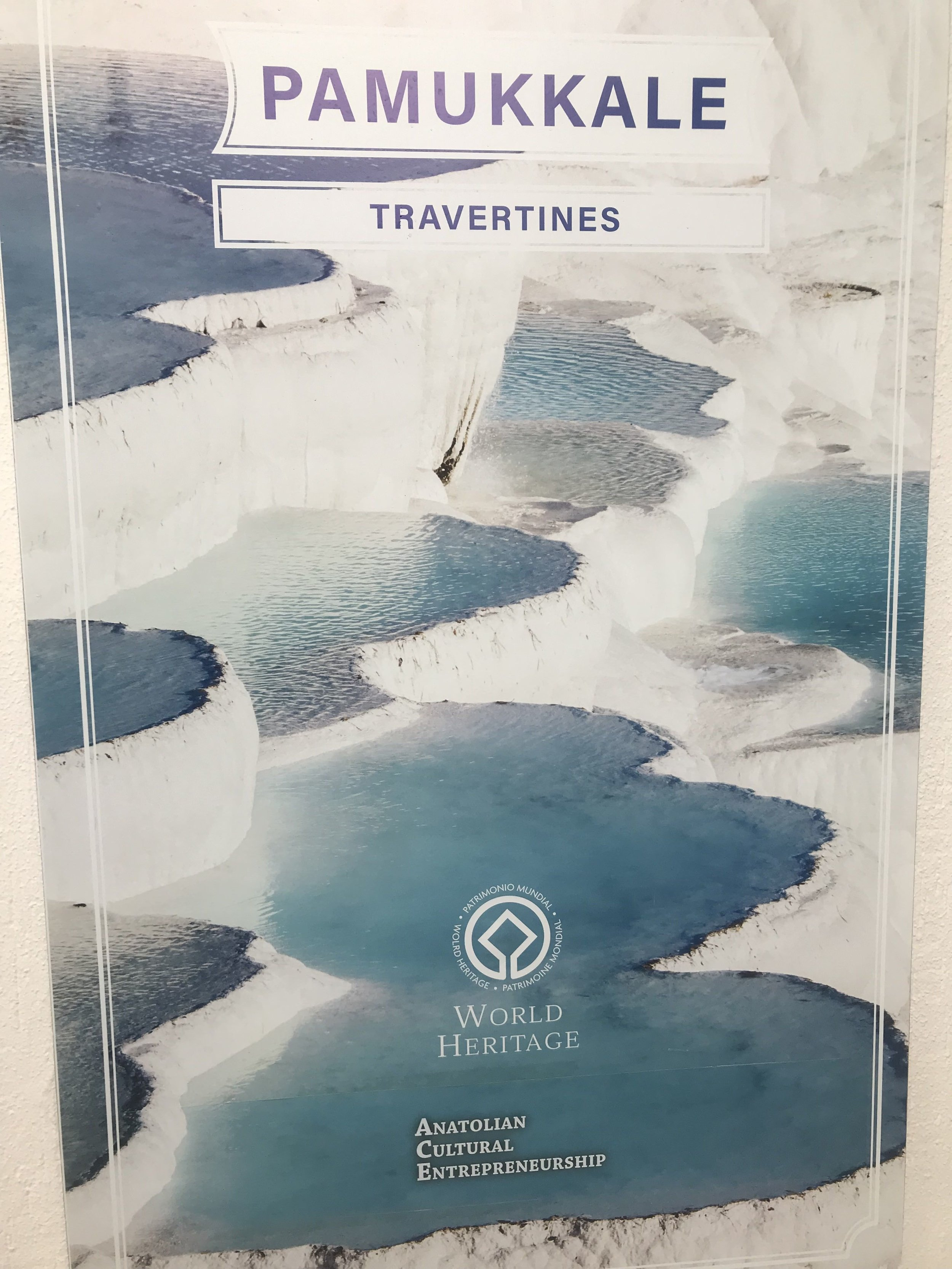 What the travertines used to look like at Pamukkale