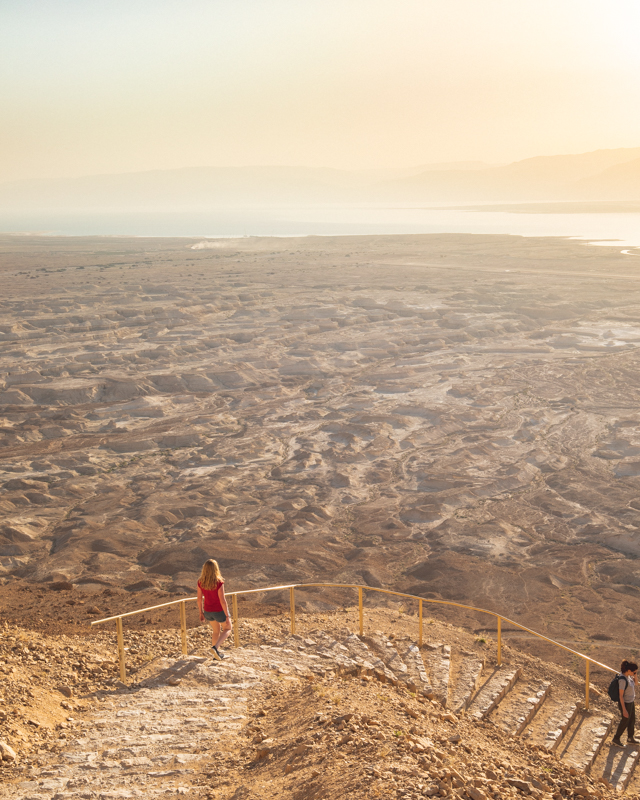 Climbing down the Snake Path, Masada