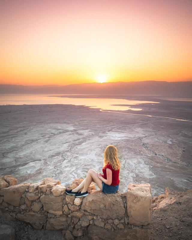 Sunrise at Masada Fortress