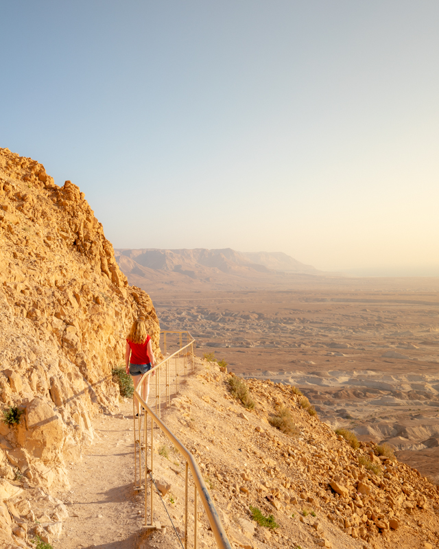 The snake path at Masada - Things to do in the Dead Sea