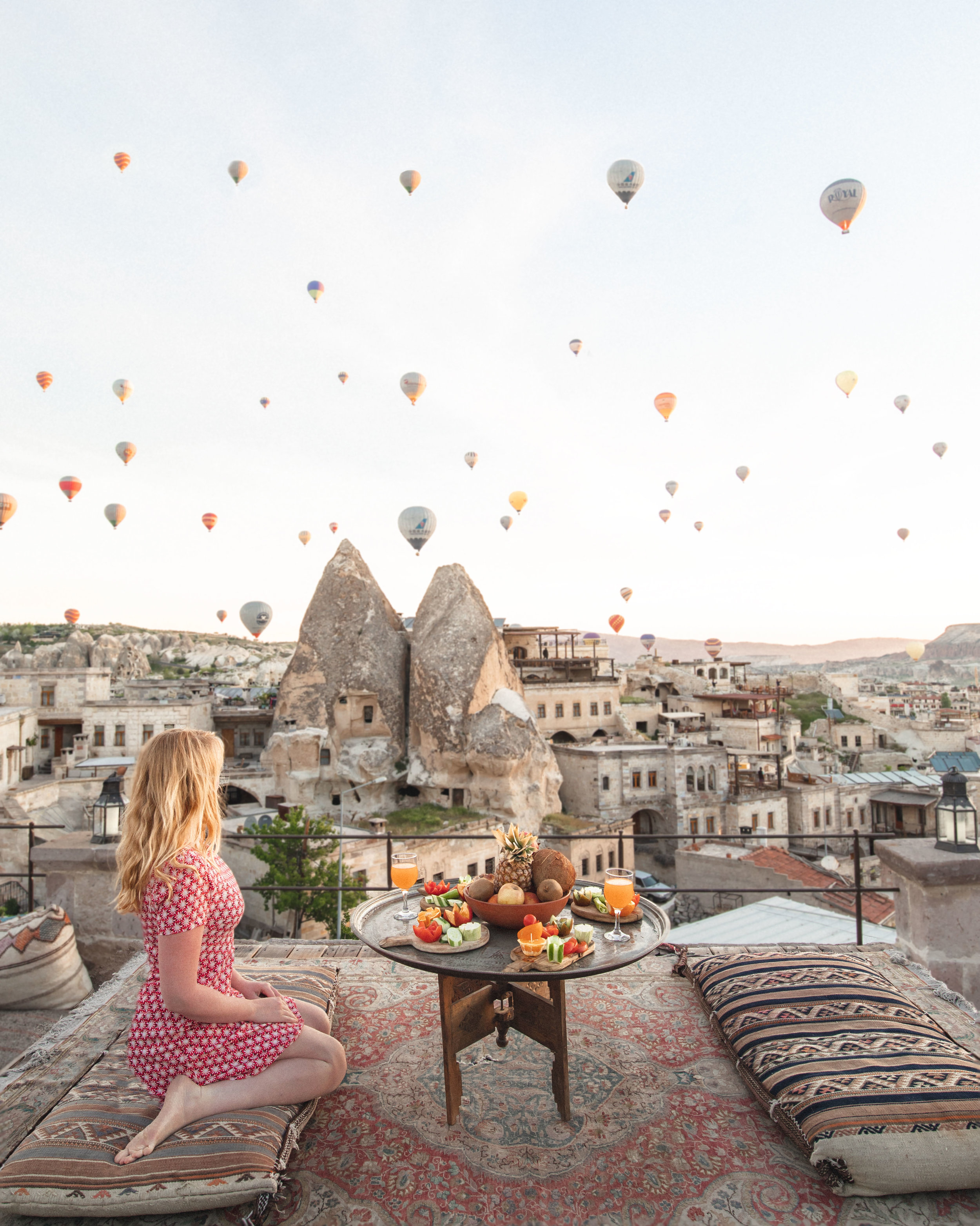 best things to do in Cappadoccia - Balloons from the balcony