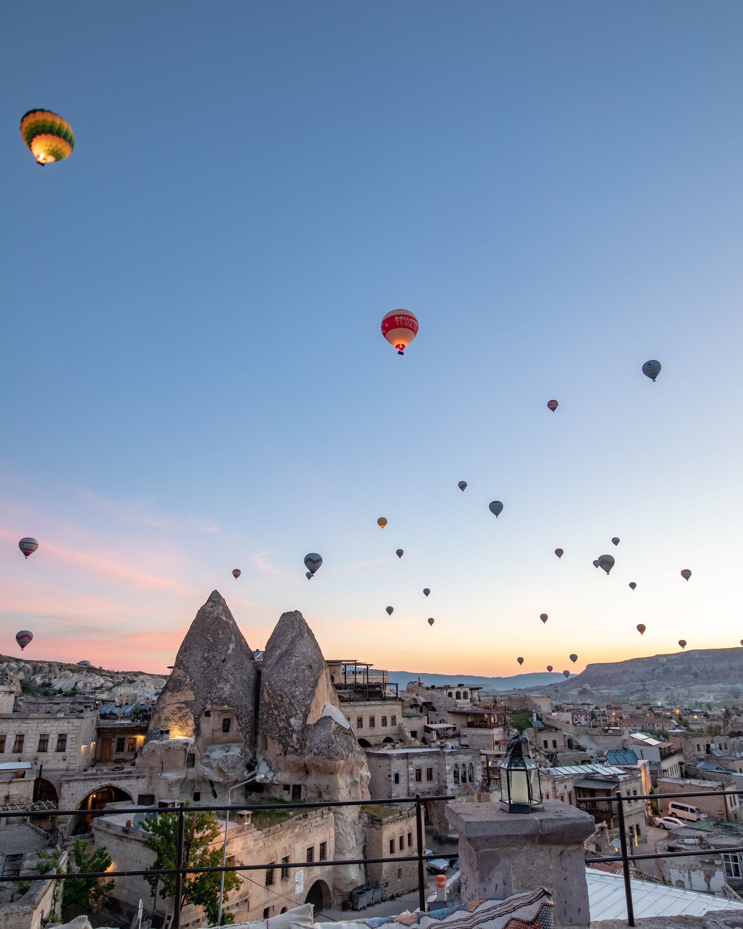Sunrise spots in Cappadocia - From a cave hotel terrace