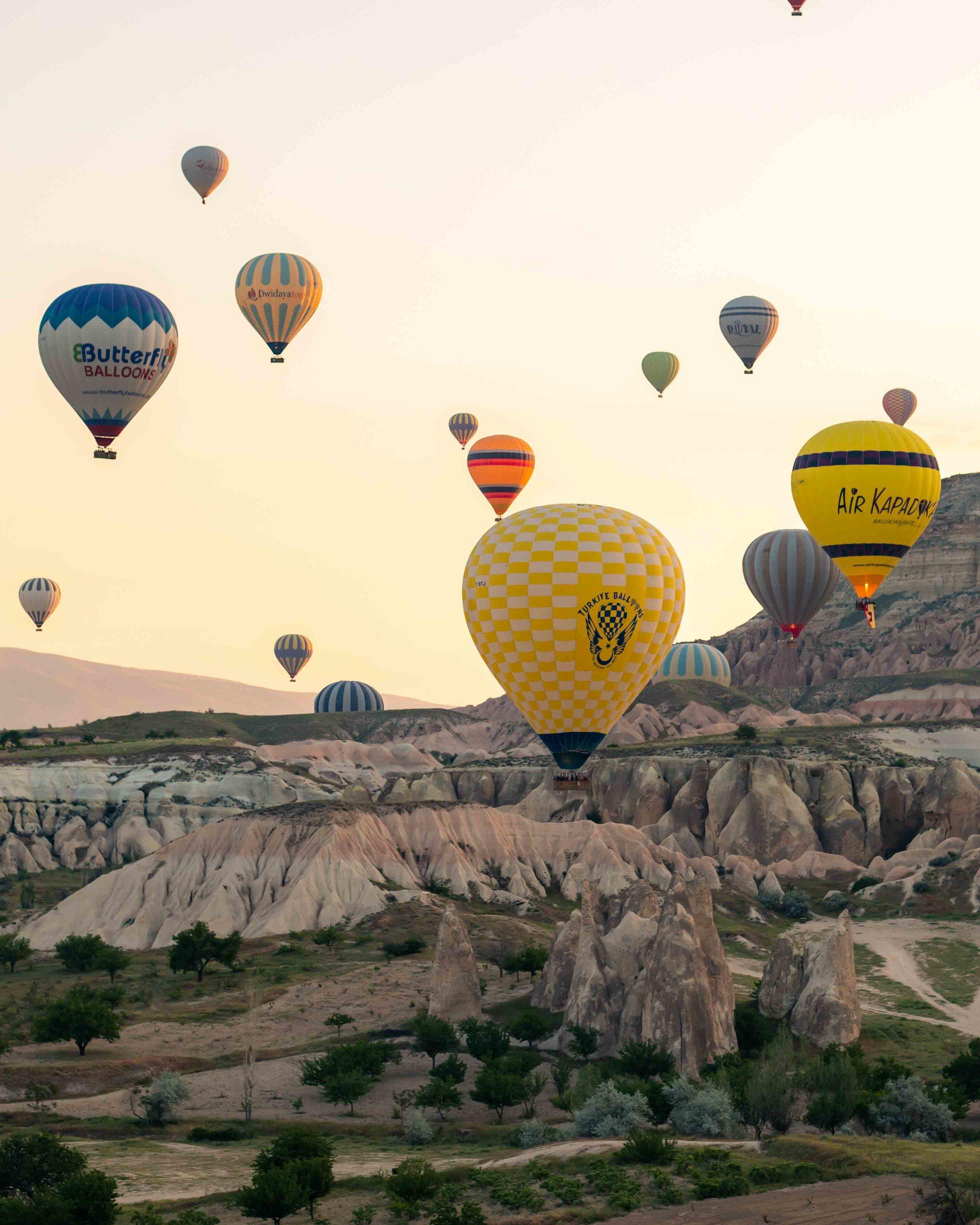 Sunrise spots in Cappadocia - Rose Valley