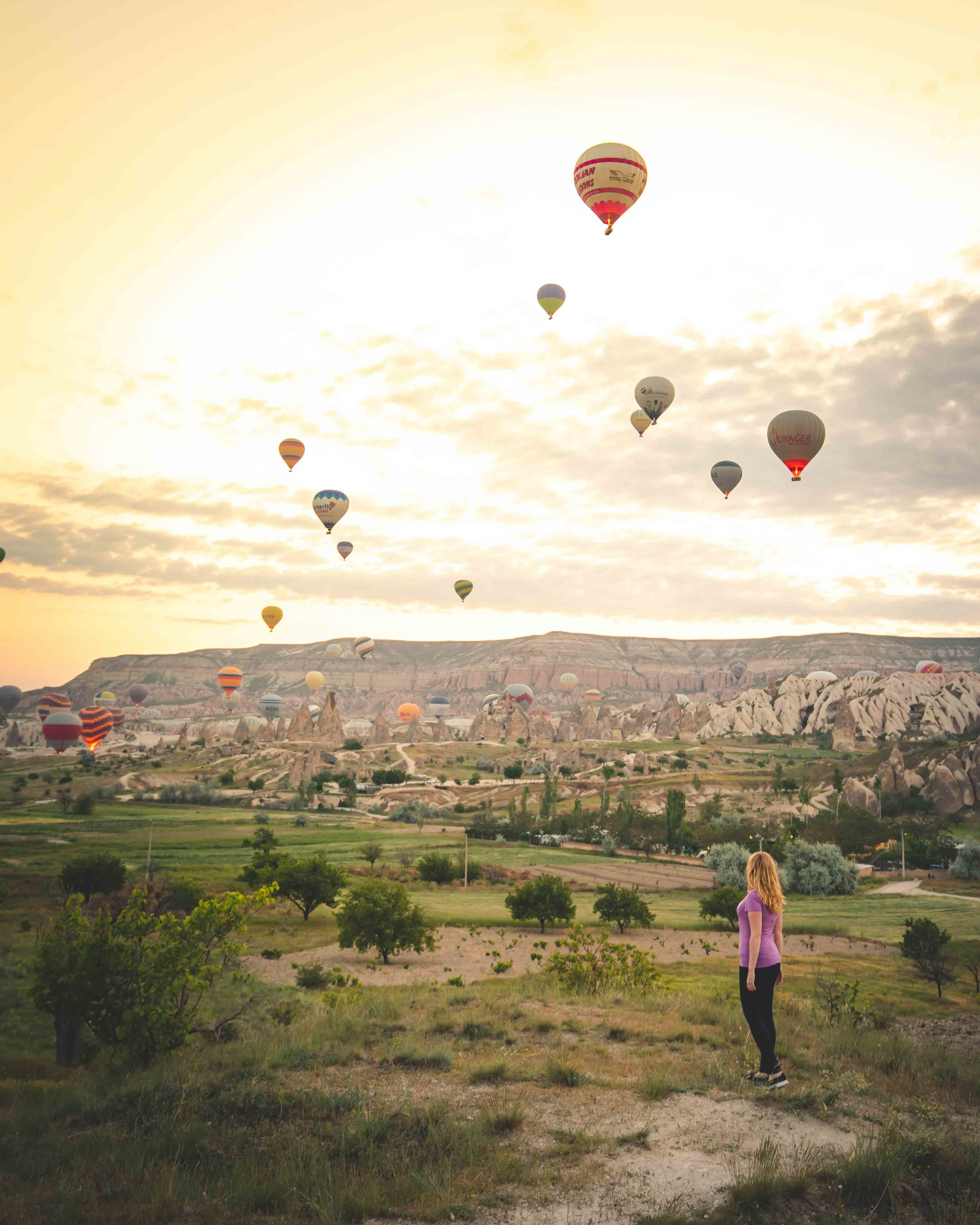 Sunset spots in Cappadocia - Balloon take off site