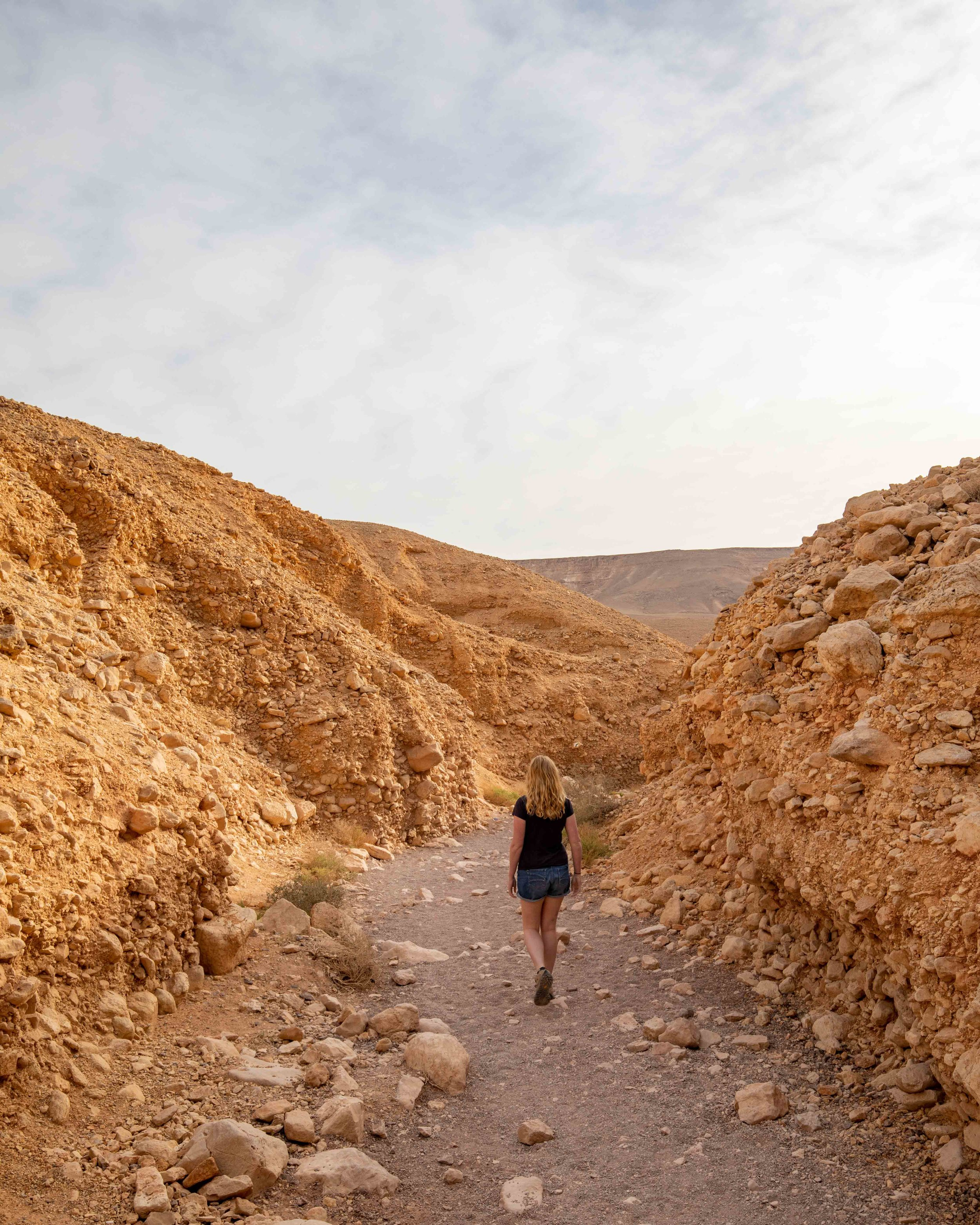 Walking to Red Canyon, Eilat