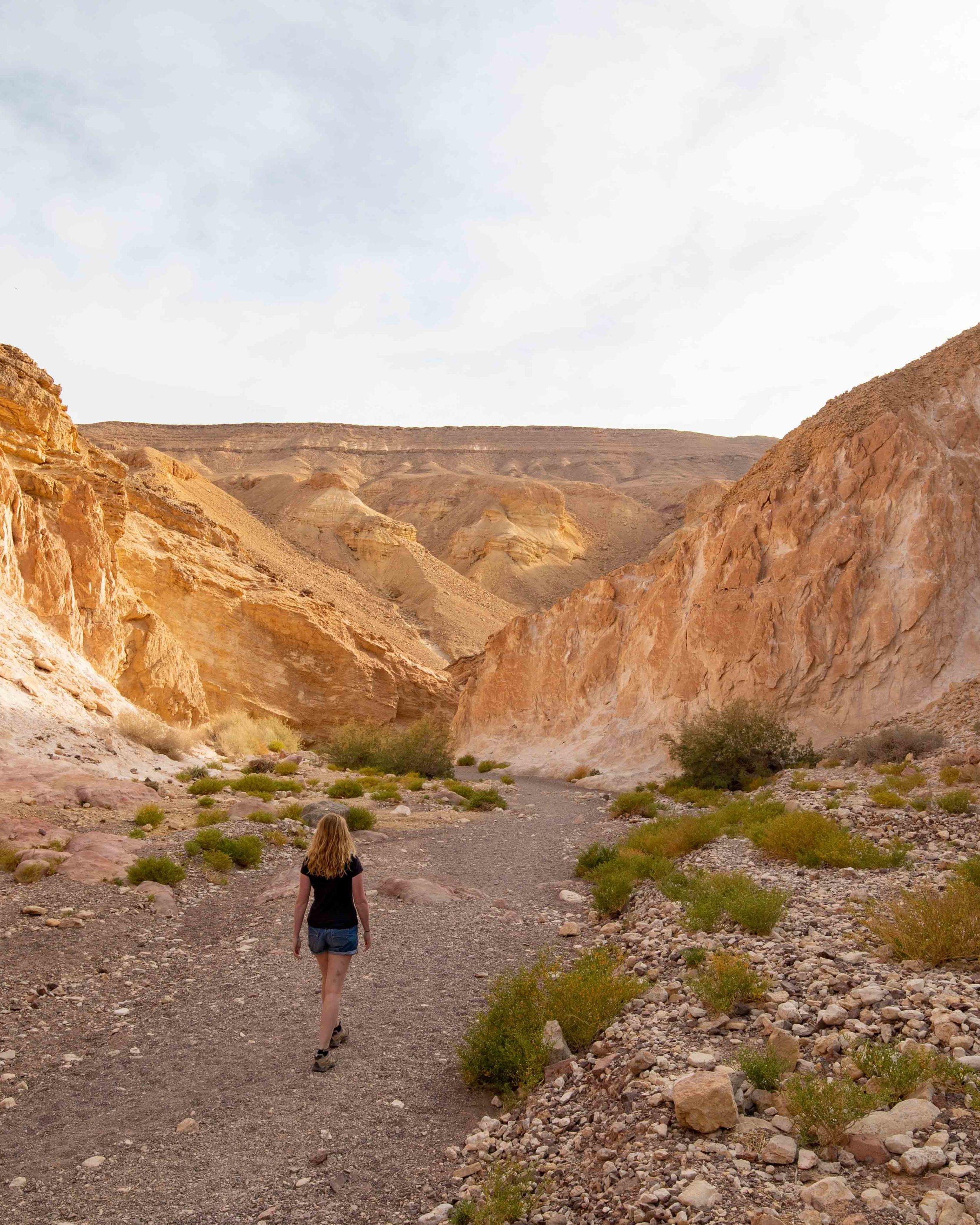 Walking at Red Canyon, Eilat