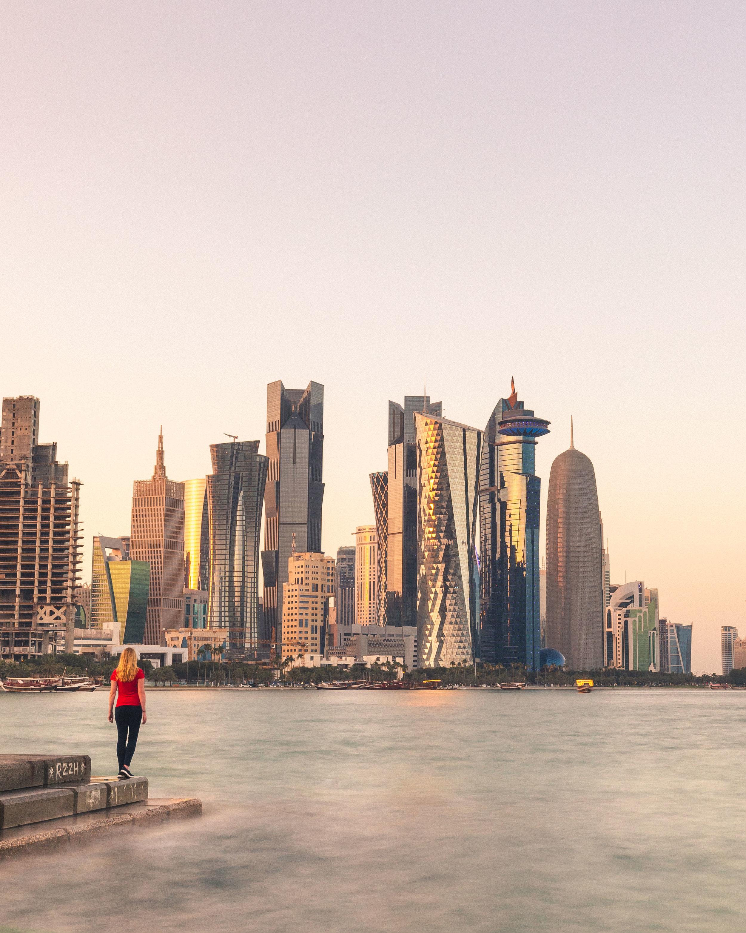The Corniche - 2 day stopover in Doha