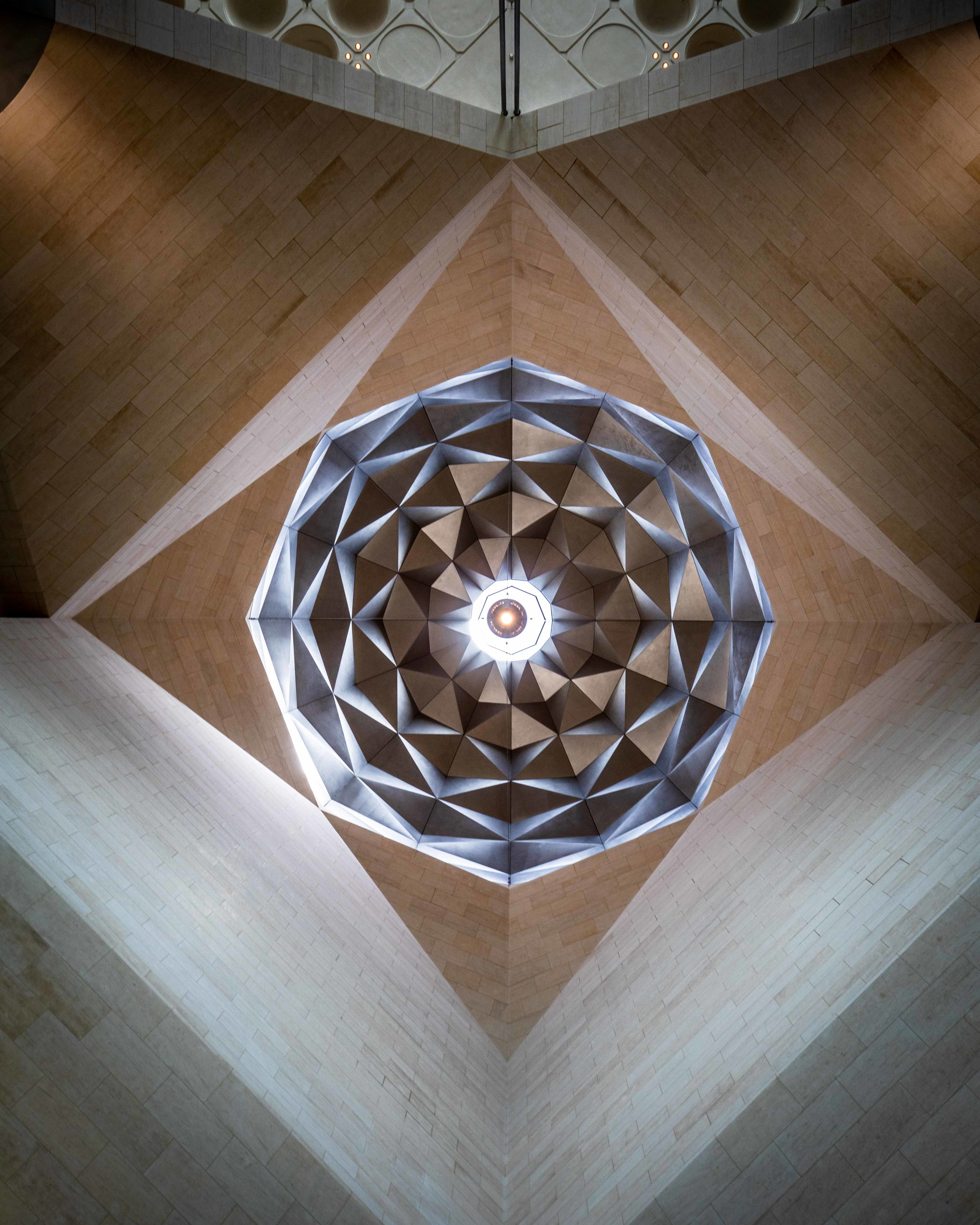 The inside of the Islamic art museum - Qatar stopover