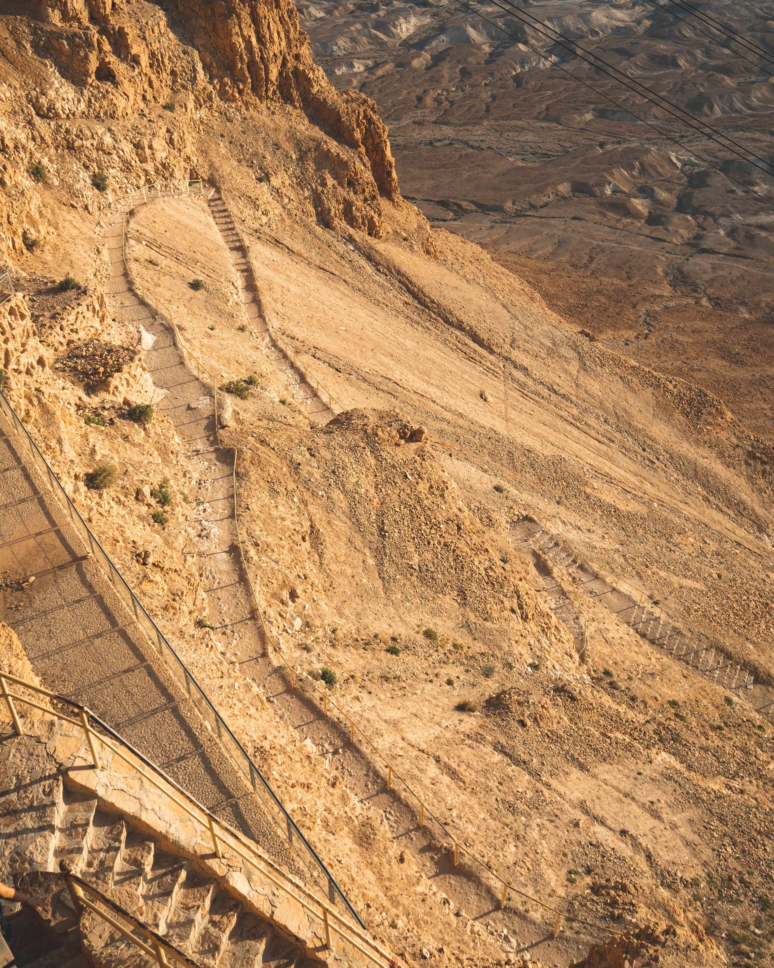 The Switchbacks at the hike up the Masada Snake Path