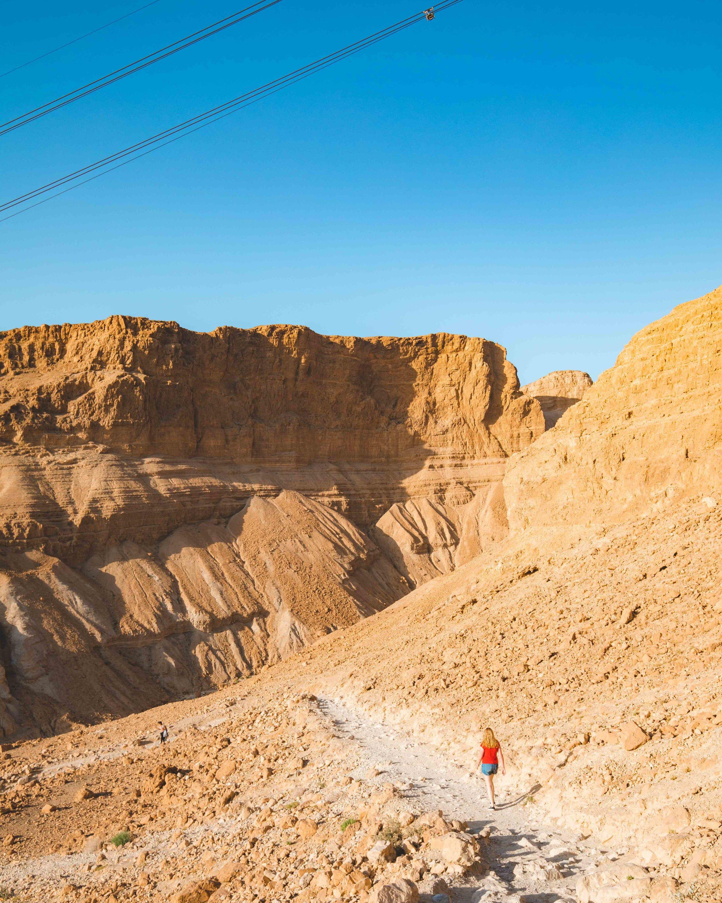 The Snake Path at Masada