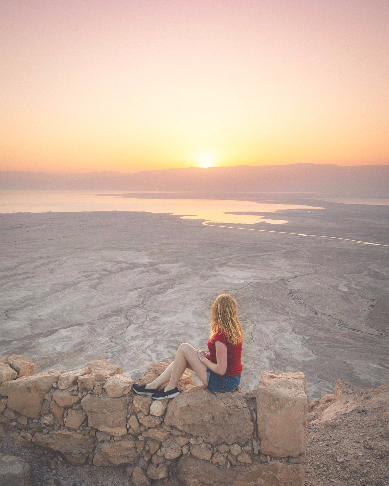 Masada Snake Path Hike - the views from the top
