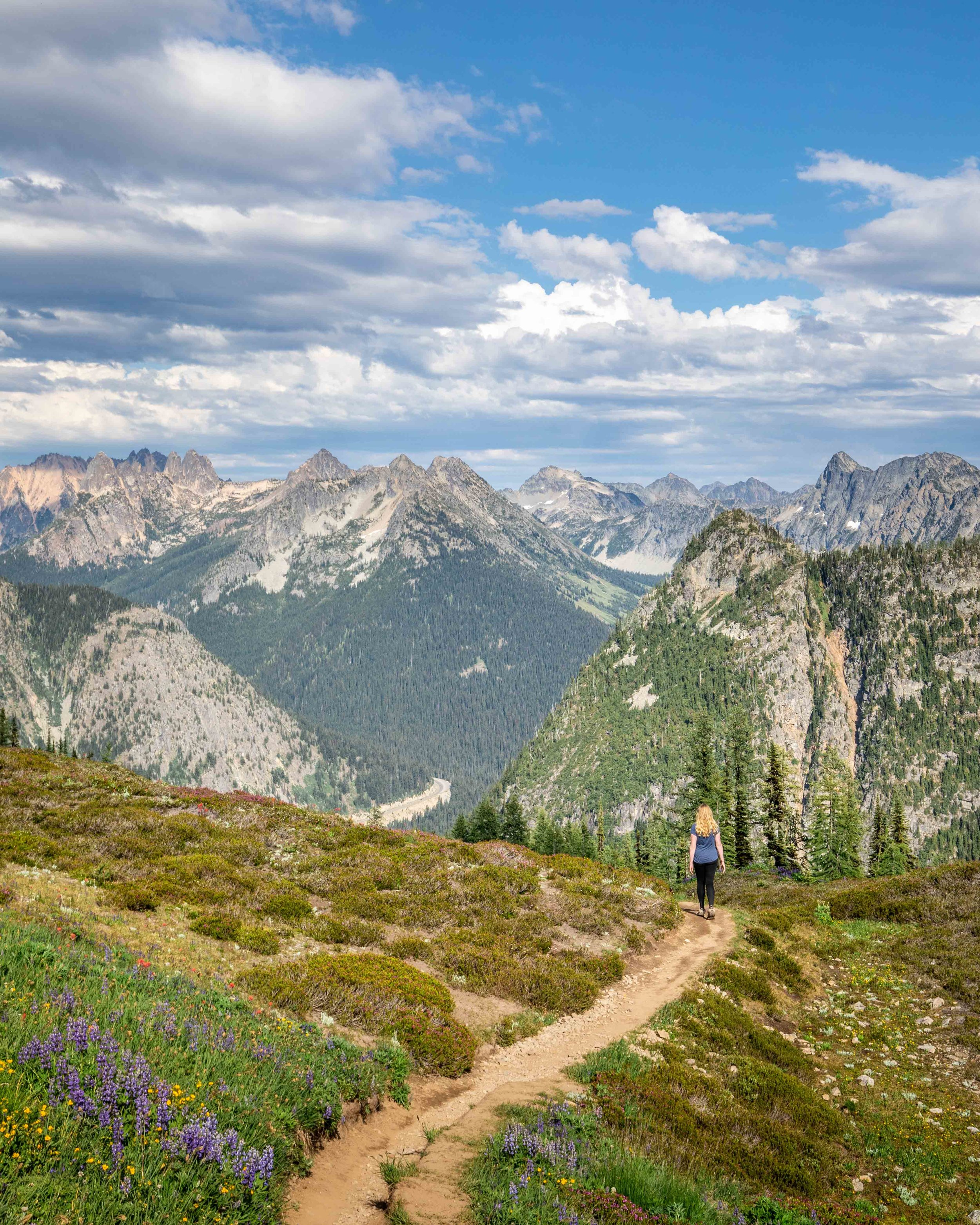 Maple Pass Loop - The views on the trail