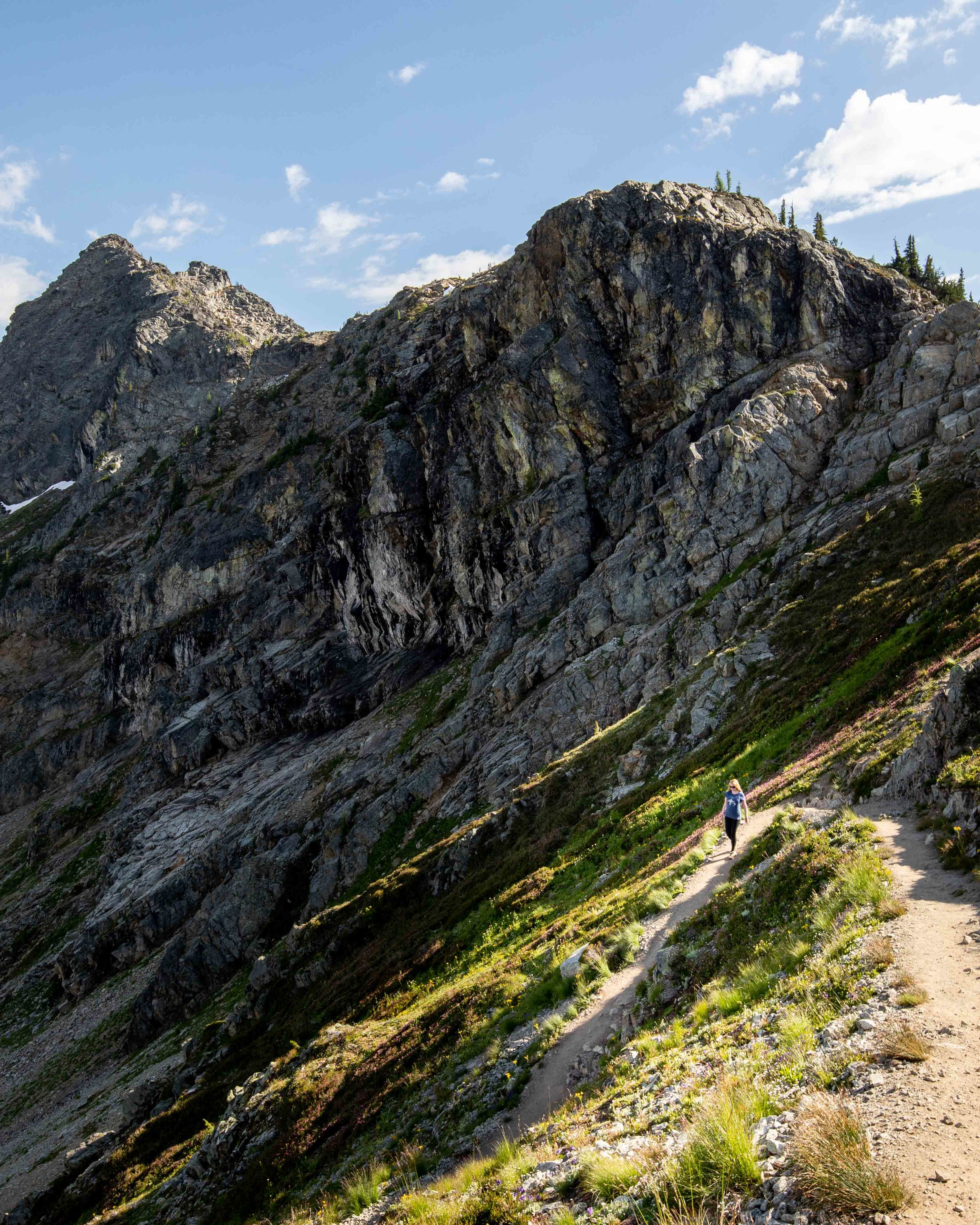The trail down at Maple Pass Loop