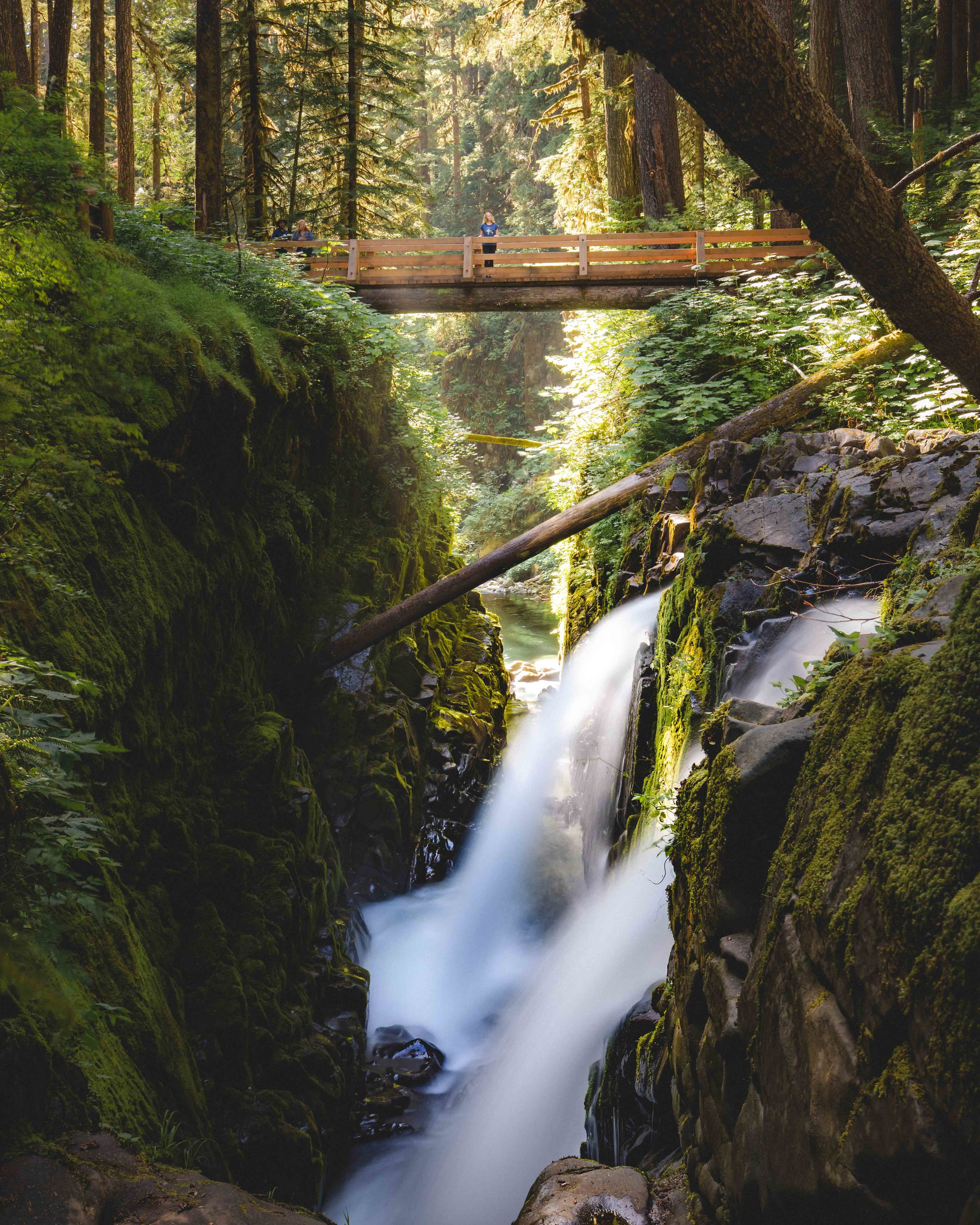 Sol Duc Falls near Lake Crescent - Olympic National Park