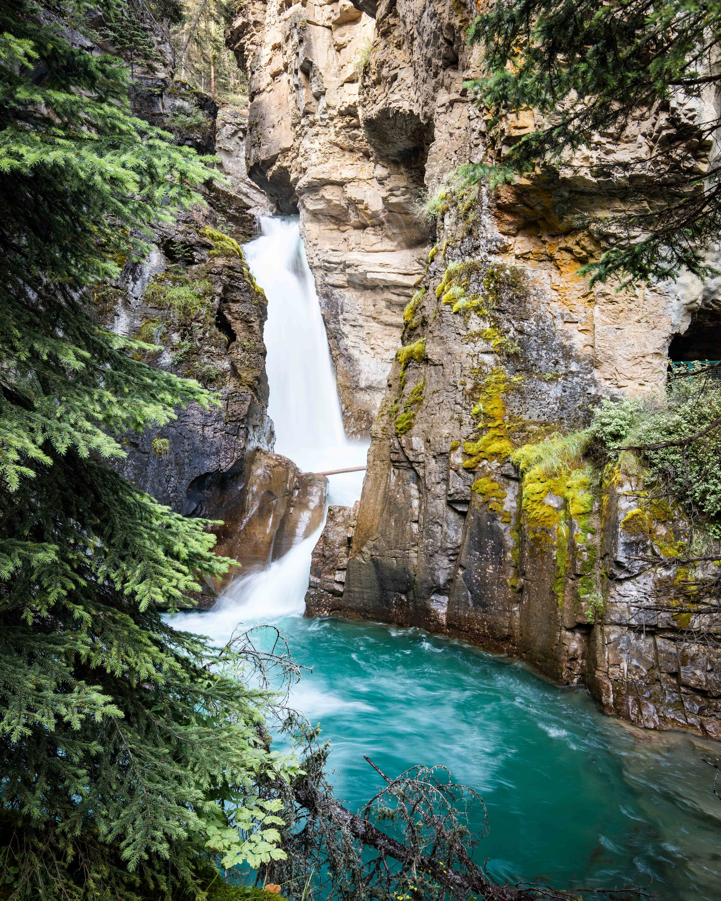 The Lower Falls at Johnston Canyon