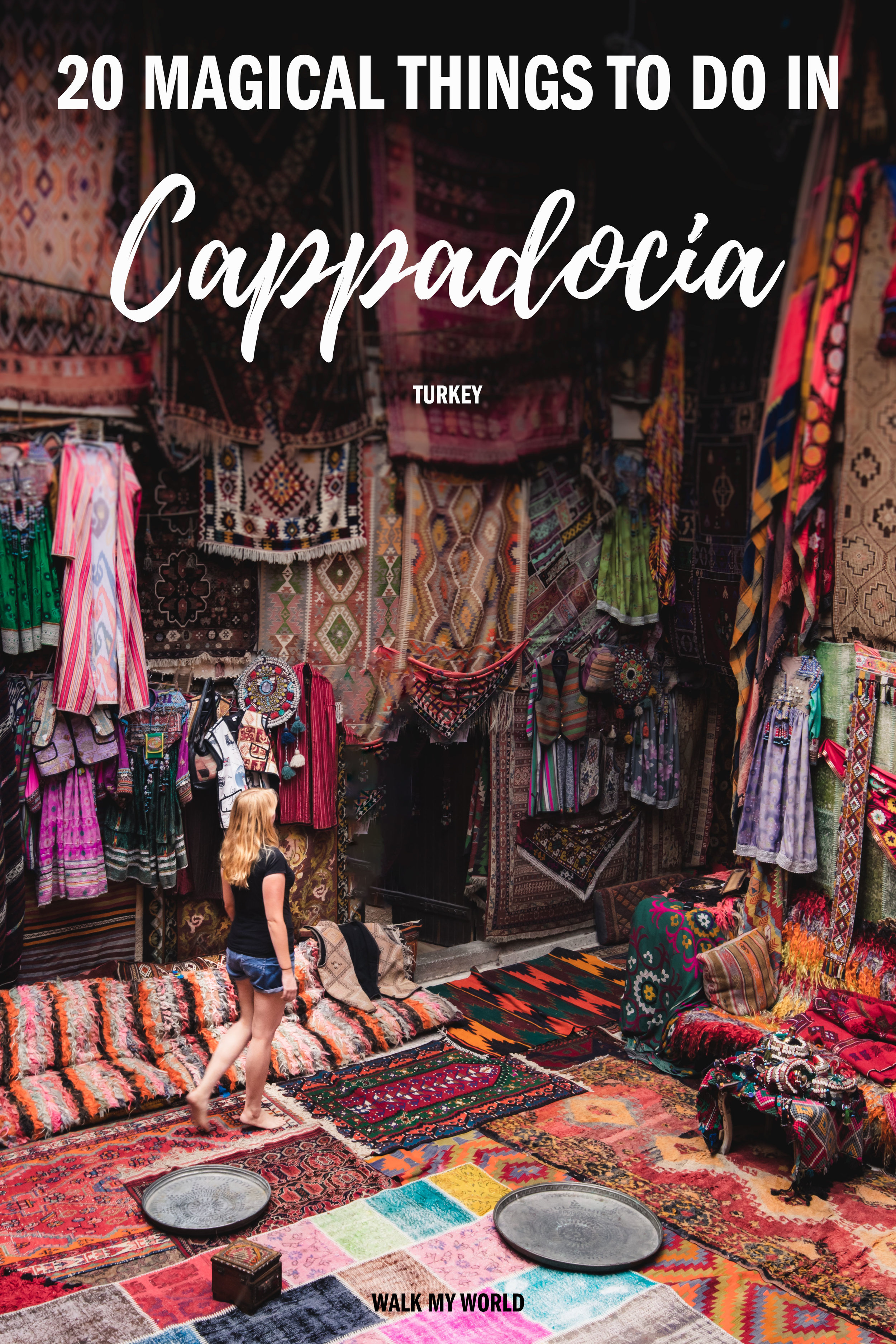 The 20 things you must do in Cappadocia from the bucket list items in Goreme to hidden gems in the surrounding areas. We'll tell you everything you must see, how to get there, the best times to go and all you need to know for a magical trip to Cappadocia. #Cappadocia #Turkey