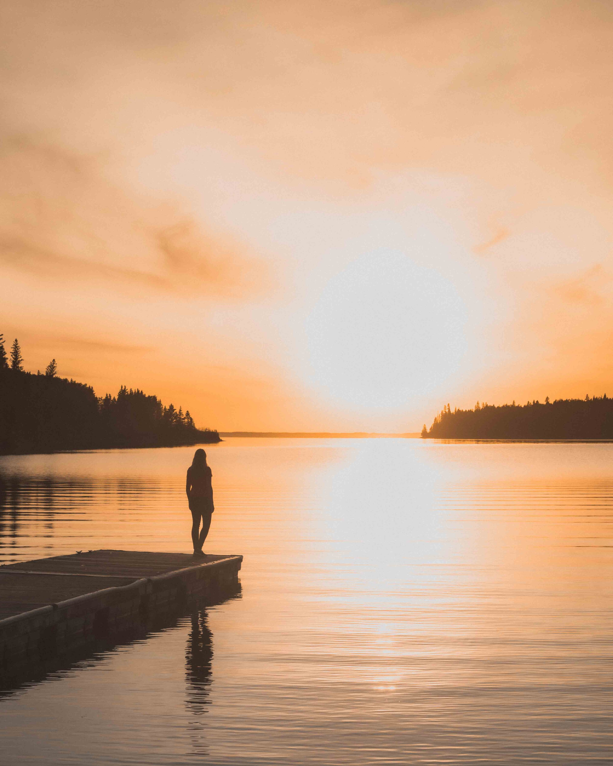 Sunset at Clear Lake - Activities in Riding National Park