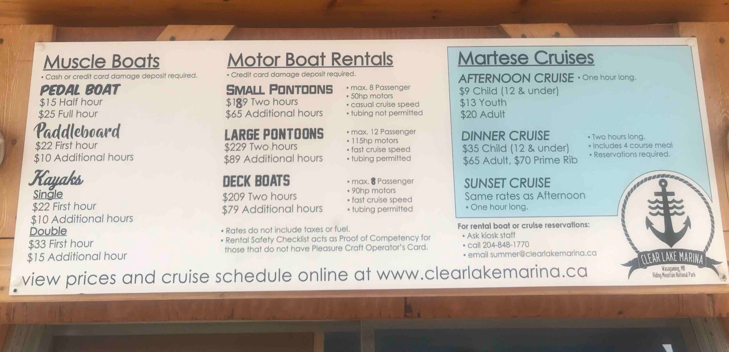 Costs of renting a boat at Clear Lake