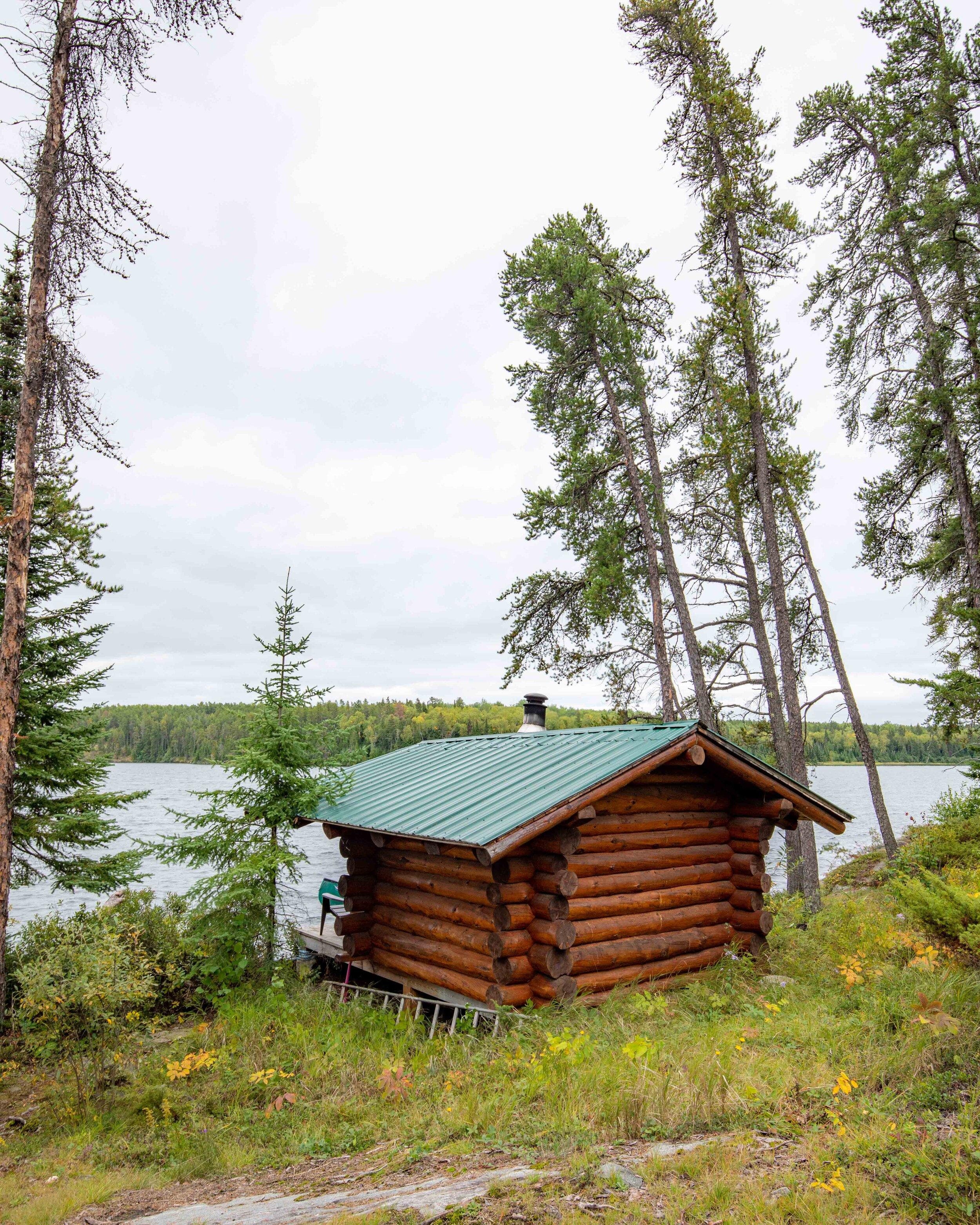 The sauna at Falcon Lake