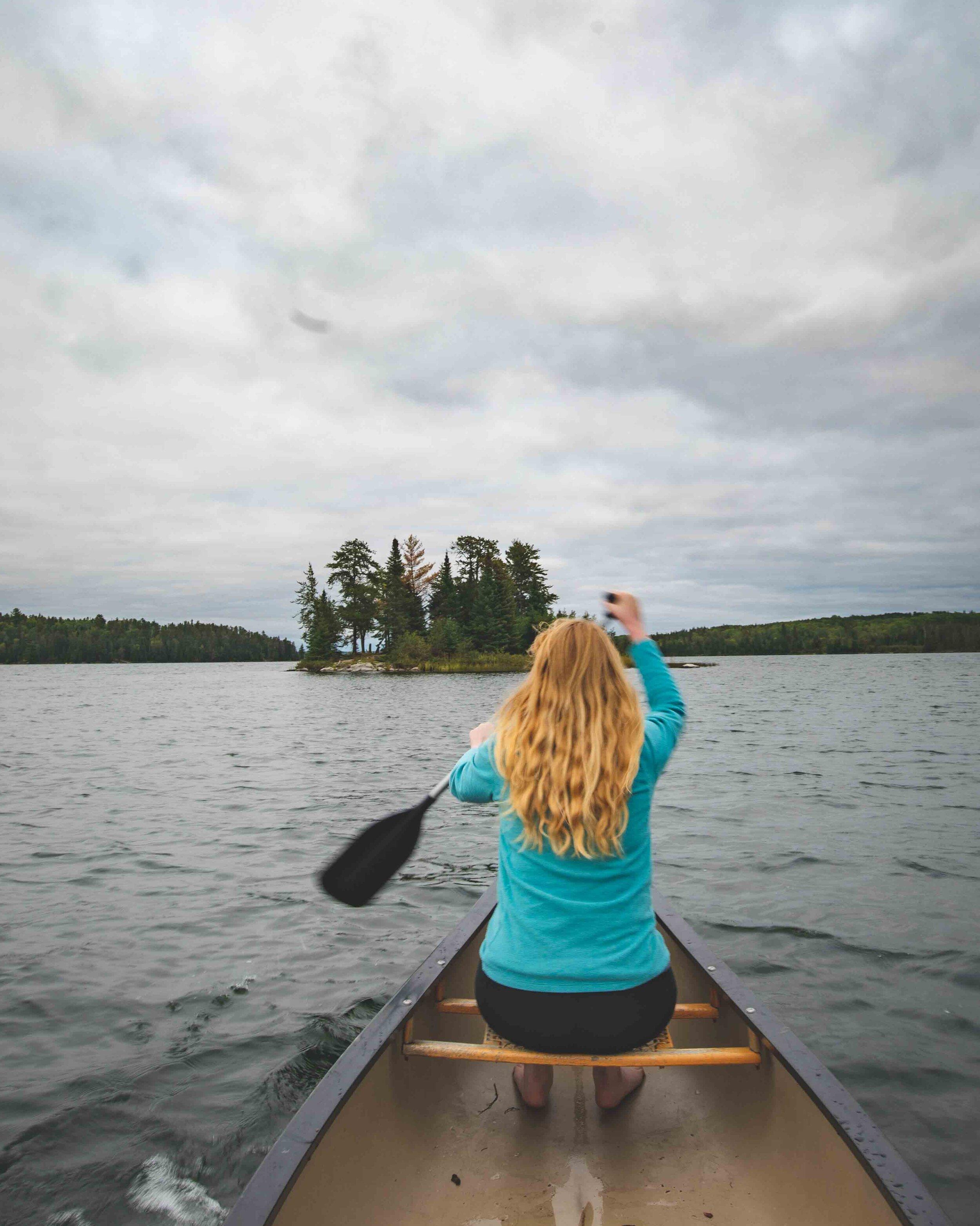 Canoeing around Whiteshell Provincial Park