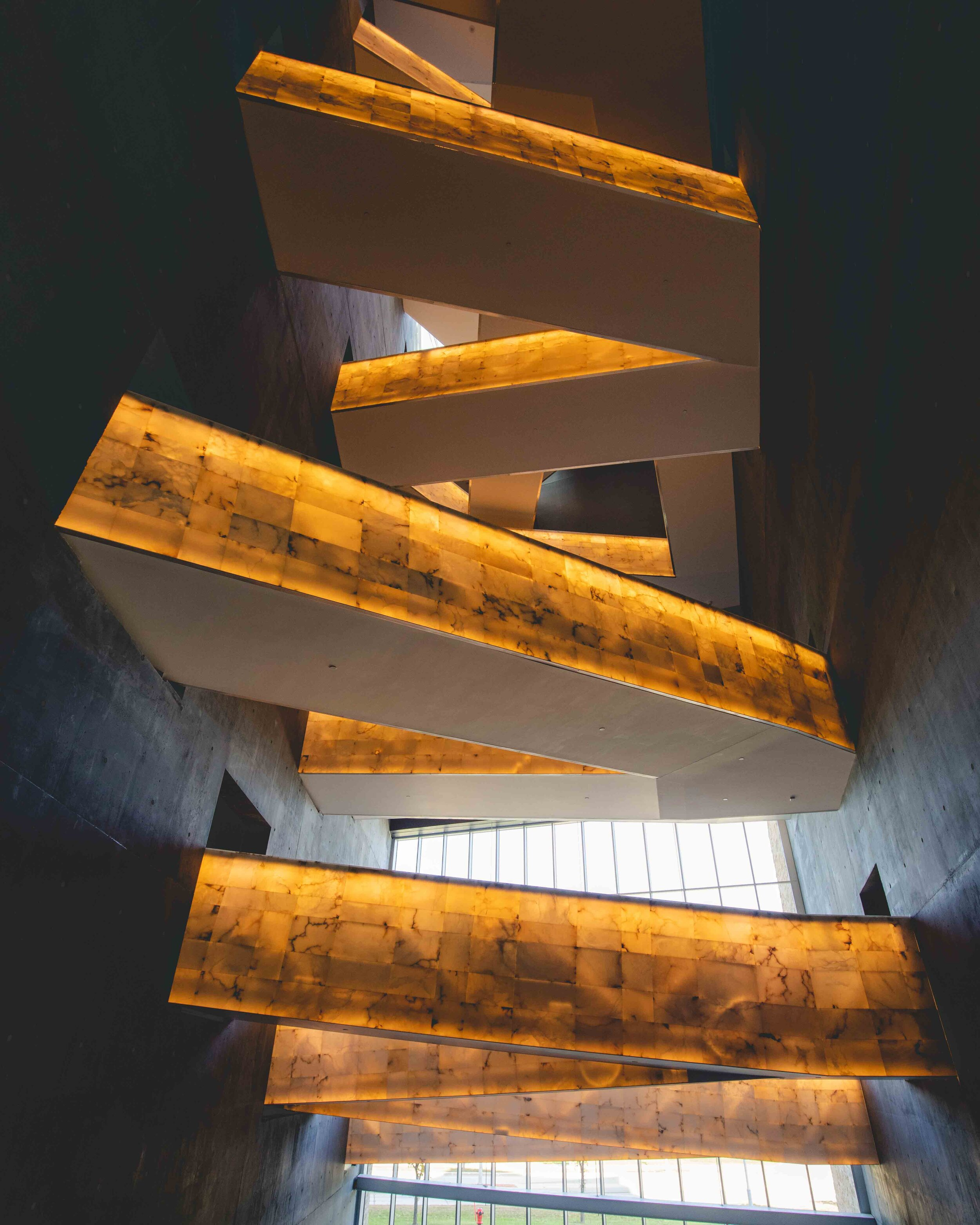 The stairs at the museum of human rights - winnipeg