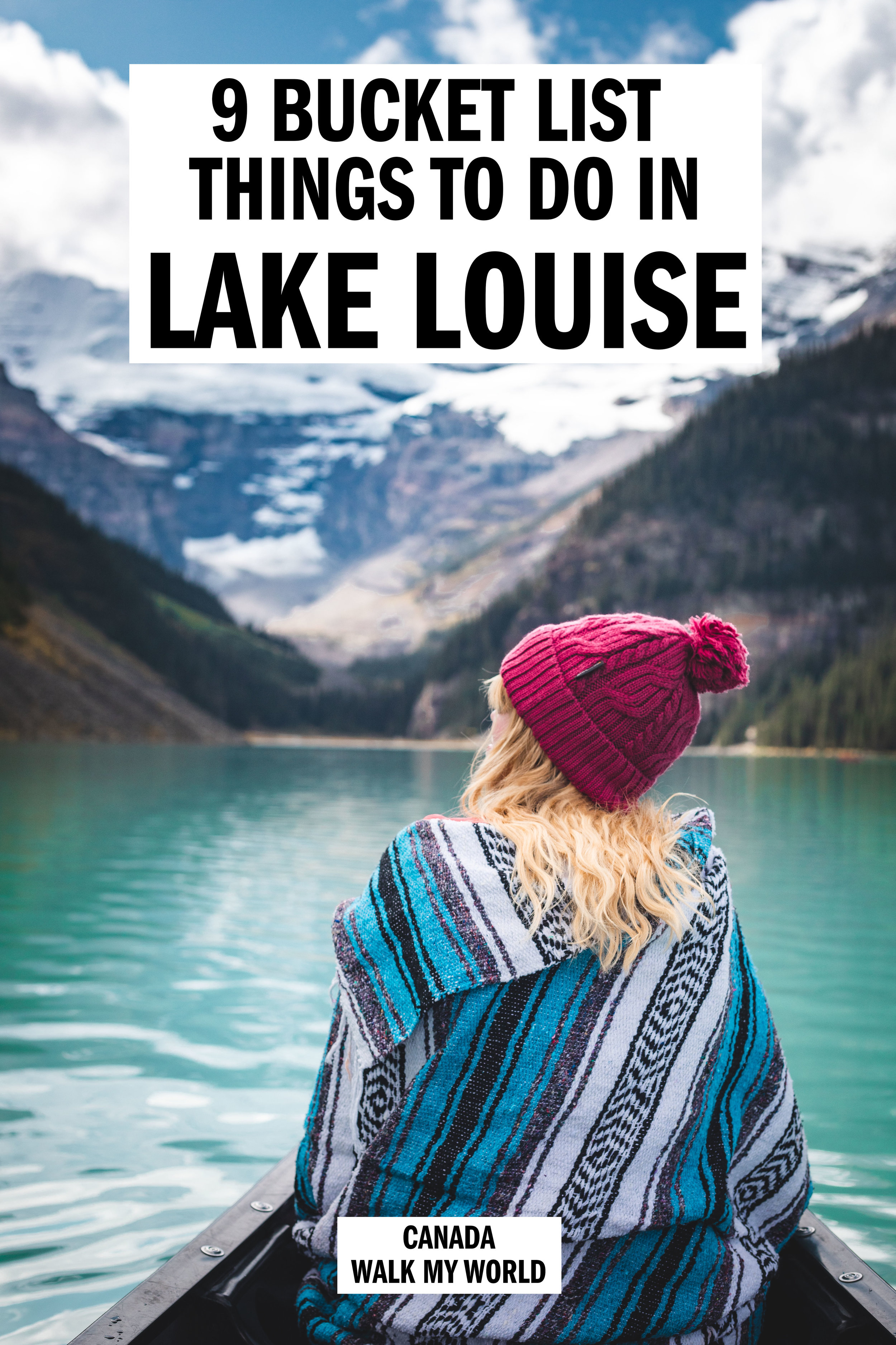 9 bucket list worthy things to do in Lake Louise. Our guide to having an unforgettable trip to Lake Louise including some once in a lifetime experiences, some stunning hikes, amazing viewpoints, lunch at a Canadian institution and the best chance to see wild grizzly bears in The Rockies. #LakeLouise #Canada #ThingsToDoInLakeLouise