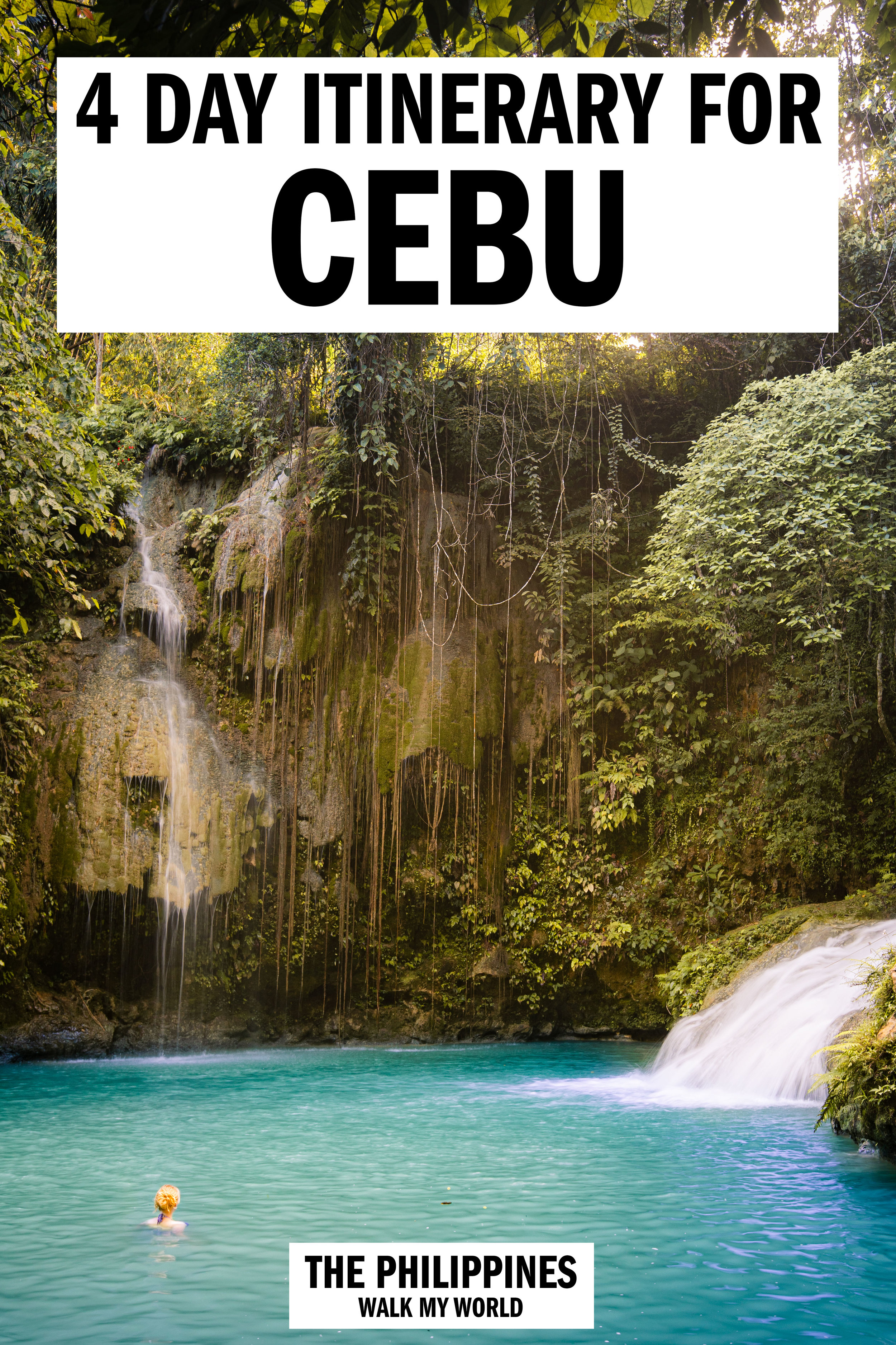 The ultimate itinerary for an adventurous trip to Cebu, Philippines! We'll take you through the places you must visit as well as top tips for avoiding the crowds, where to stay and all you need for the trip of a lifetime! #Cebu #Philippines