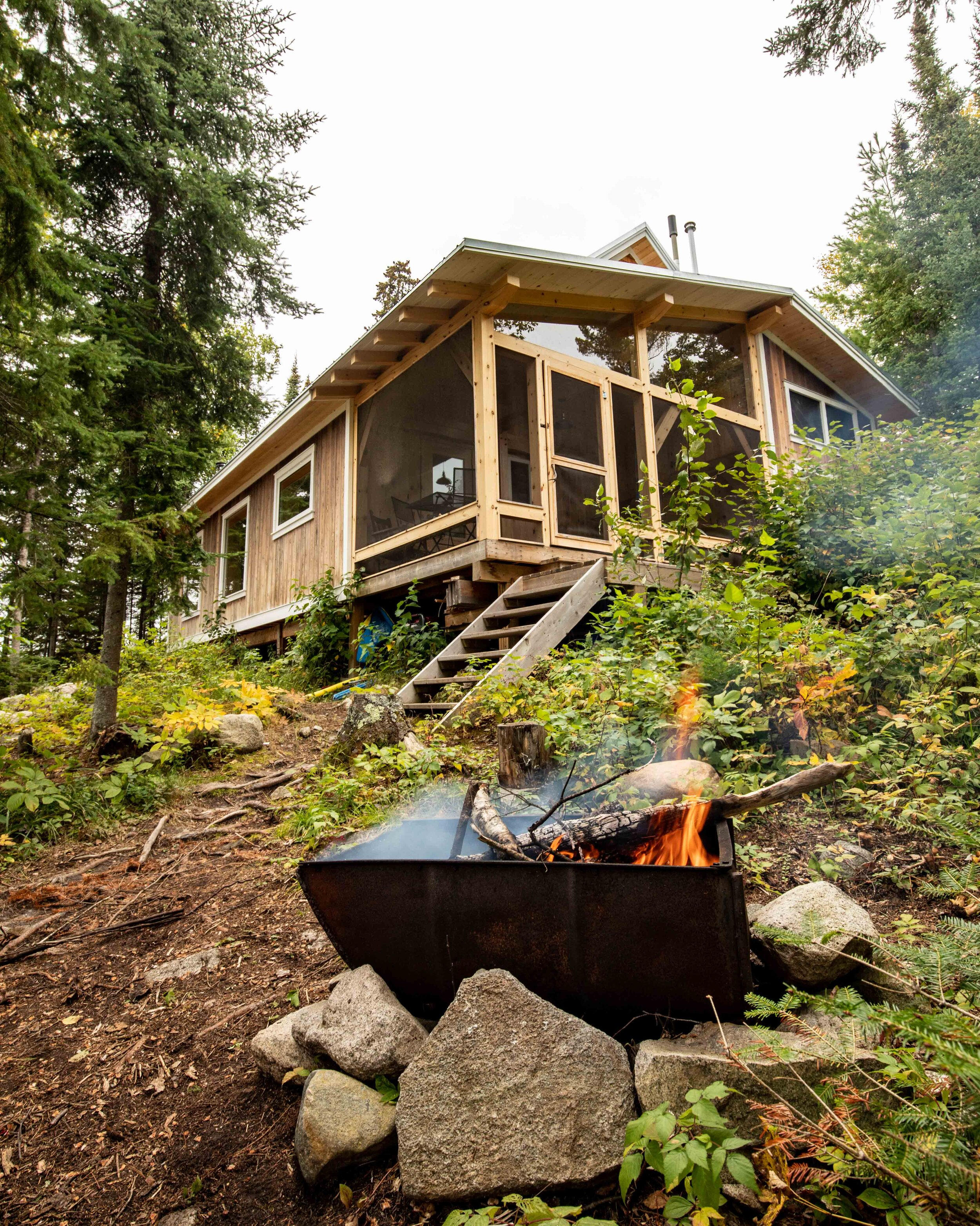 The eco cabins at Falcon Trails