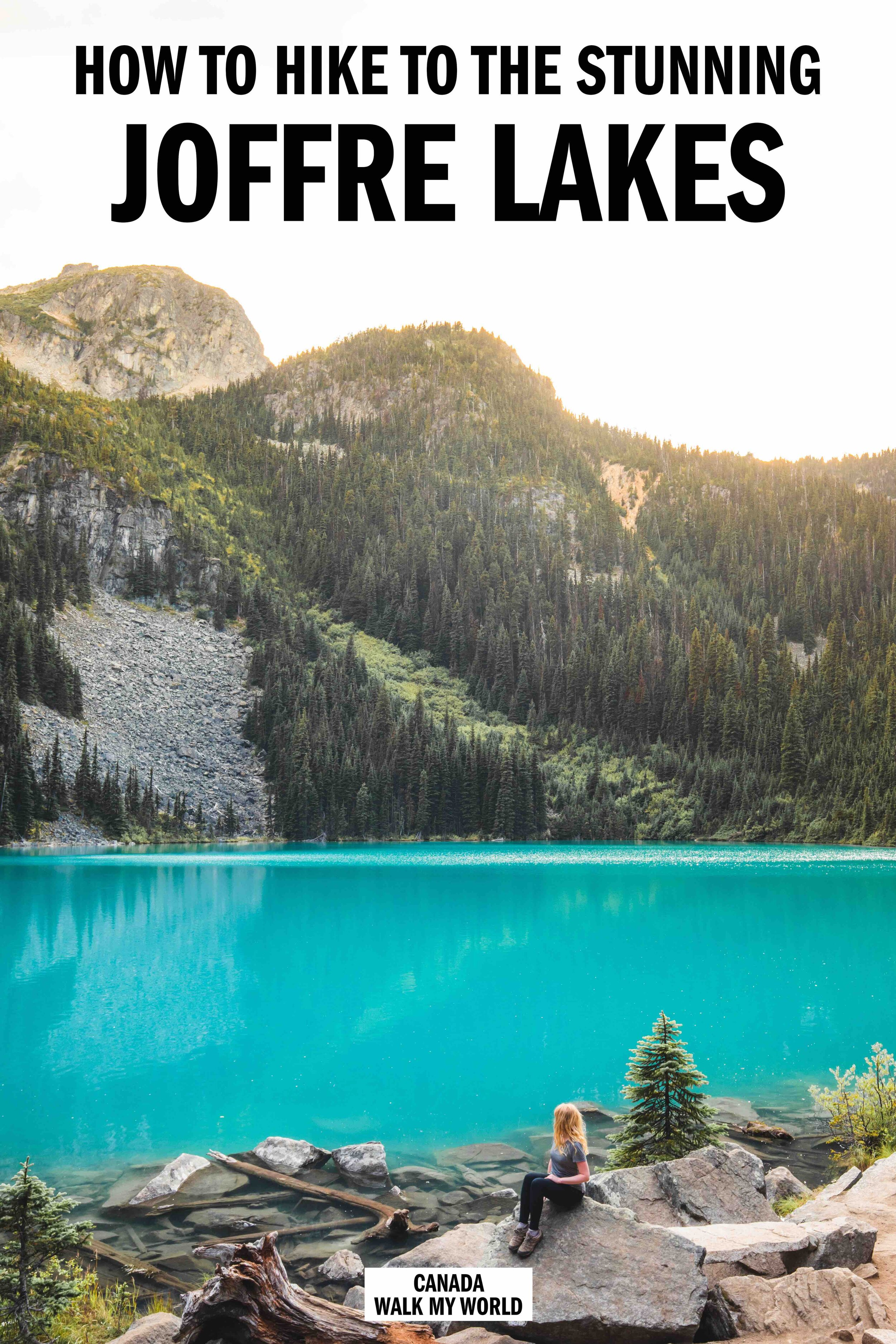 Everything you need to know about the Joffre Lakes hike - a trail to the most Instagrammable lakes near Vancouver. We'll tell you about the famous photography spot and about the quiet lake further on that no one visits!  #JoffreLakes #Canada #BritishColumbia