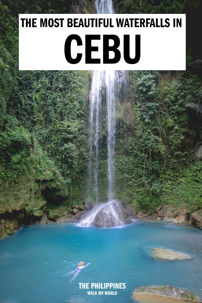 A comprehensive guide to the Cebu Waterfalls: the most beautiful, the quietest, the best for adventure and how to get there, what to expect and how much they cost. #Cebu #Waterfalls #Philippines