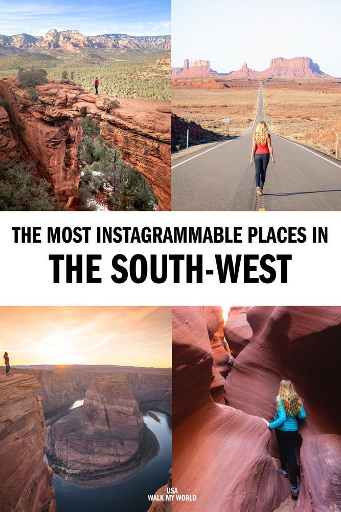 The top 18 instagram worthy places to see in the Southwest. We cover the best photography locations in Utah & Arizona, how to find them and the best time to go for a trip you'll never forget. #Southwest #USA #Utah #Arizona