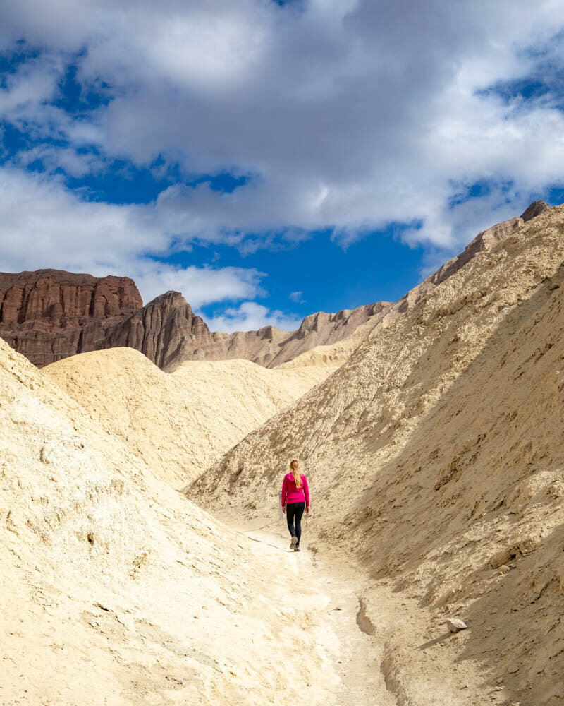 Death Valley hikes: The views of the Red Cathedral in the distance