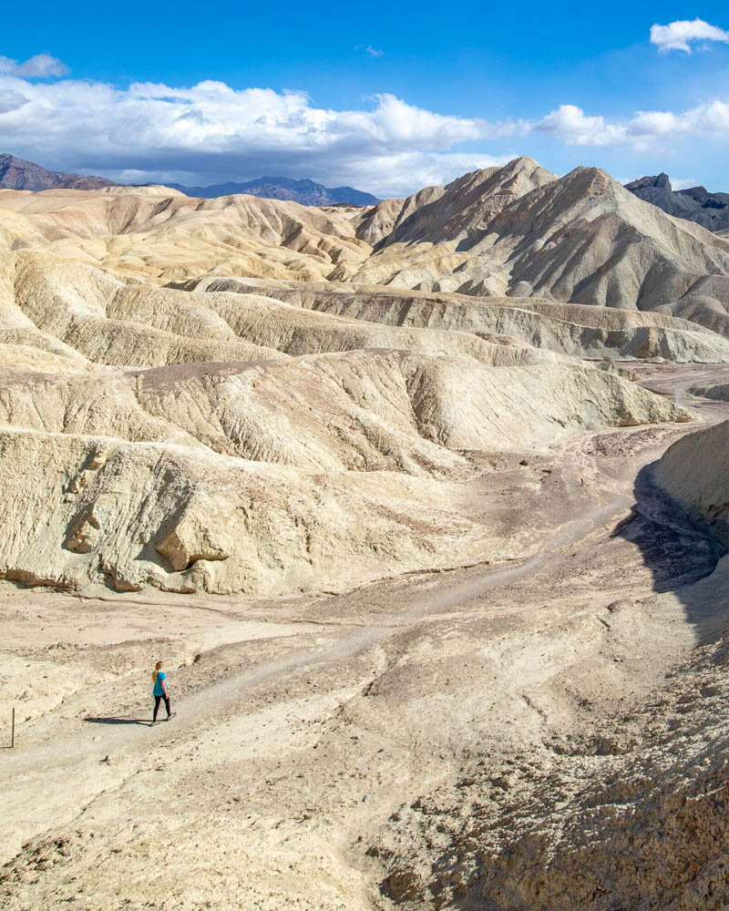 Death Valley hikes: The start of the Badlands Loop section