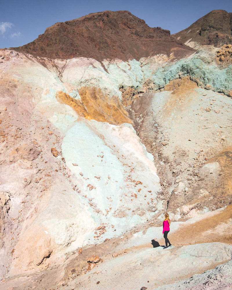 Death Valley hikes: One of the more colourful sections of Artist's Palette