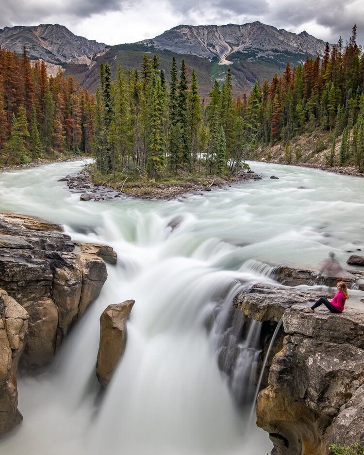 Sunwapta Falls - one of the places you can only access by car