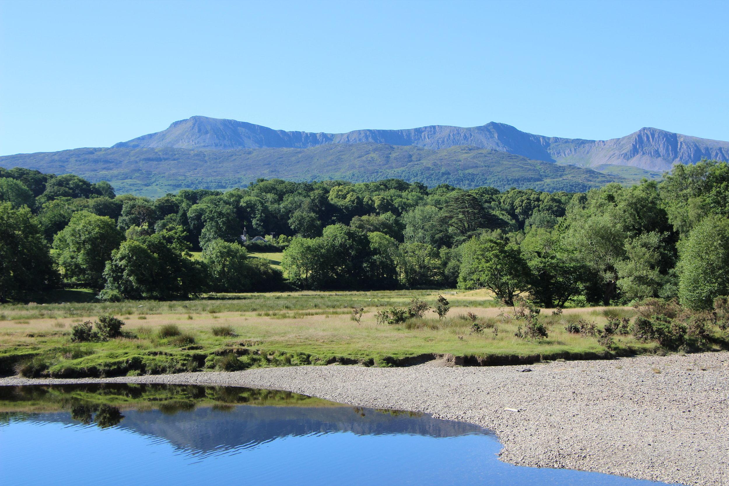 Cadair Idris over Afon Mawddach