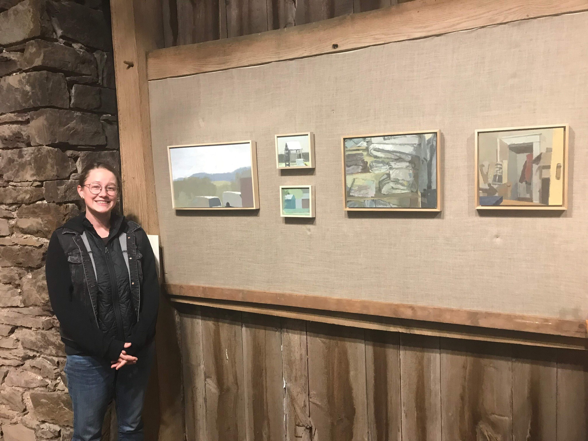 Me with my pictures at Art at King's Oaks