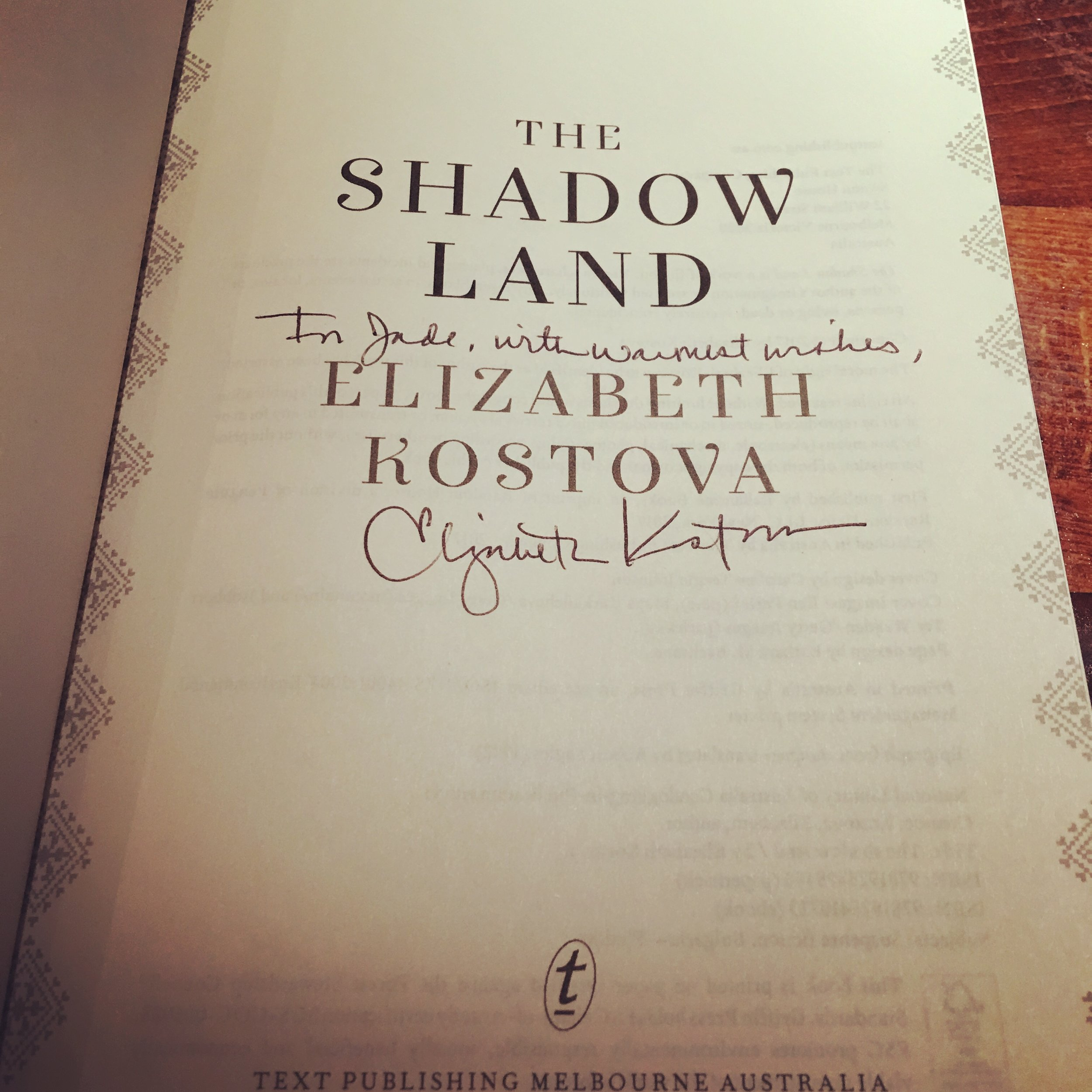 Met Elizabeth Kostova but was too shy to ask for a photo