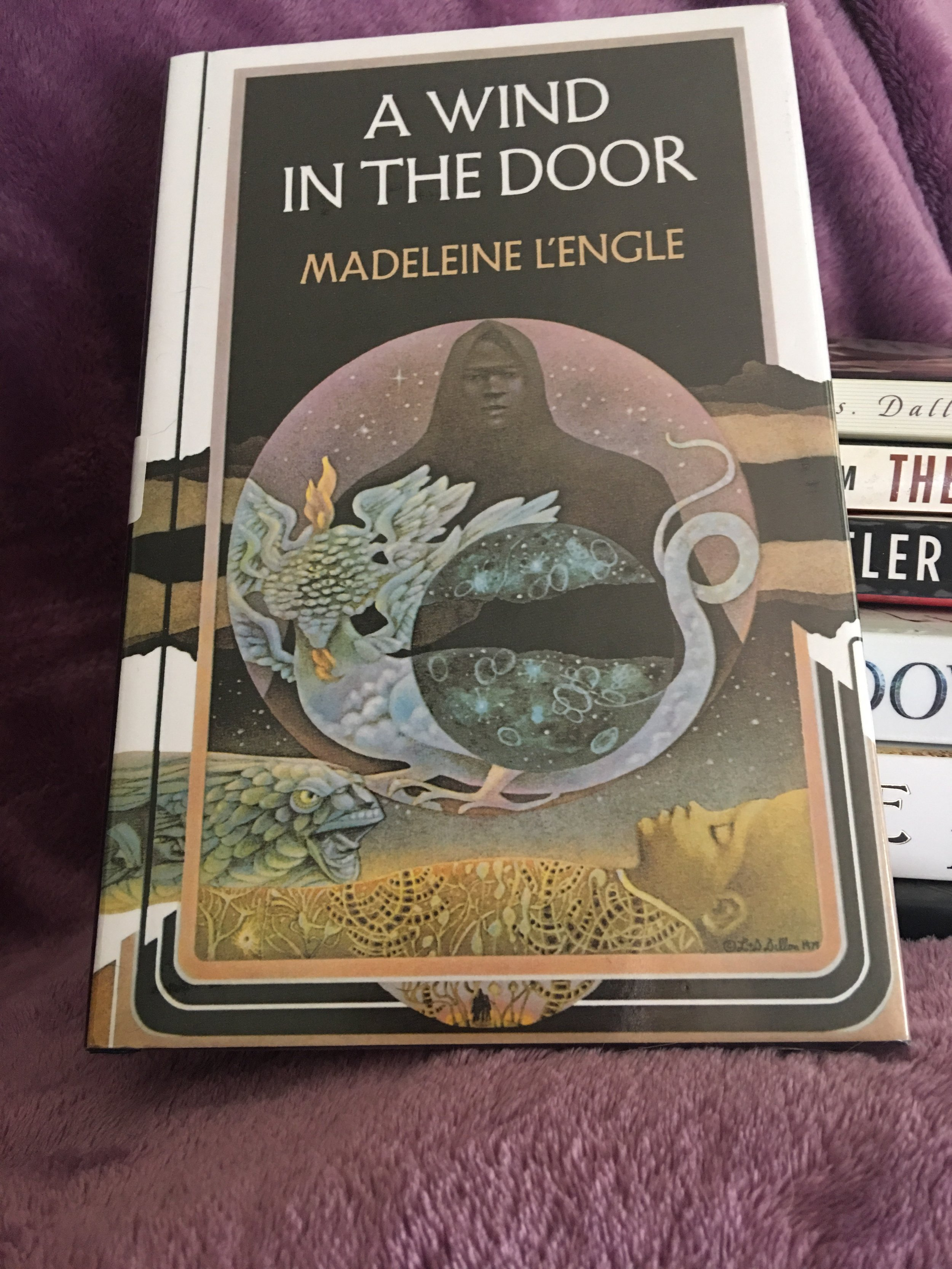 A Wind in the Door - By Madeleine L'Engle | Time Quintet #2My rating: 5 stars | Pages: 224What made me pick it up:Read a Wrinkle in Time last year for bookclub and wanted to continue on with the series.Format:Hardcover | Source: Library2018 challenge/s: Goodreads 2018 Reading Challenge