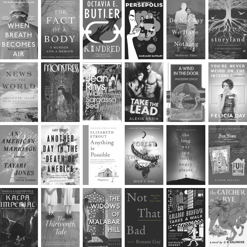 Books I read for Read Harder 2018