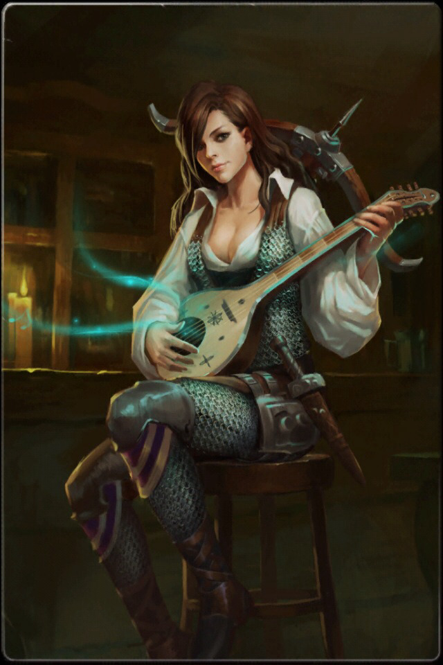 The amazing bard artwork credit goes to  Magic Missile