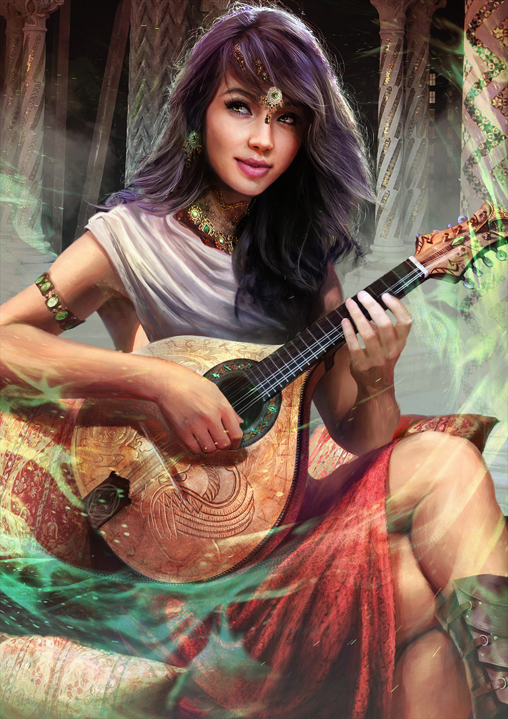 This art piece was already named Jade the BArd, Another SIgn? ArtWork Credit to  Guilherme Batisa