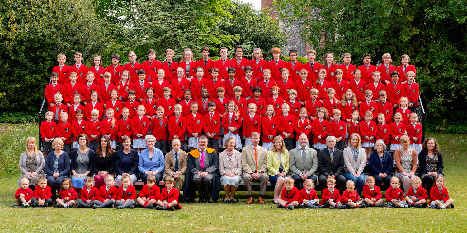 Sompting Abbotts Preparatory School staff and pupils, pictured in 2017